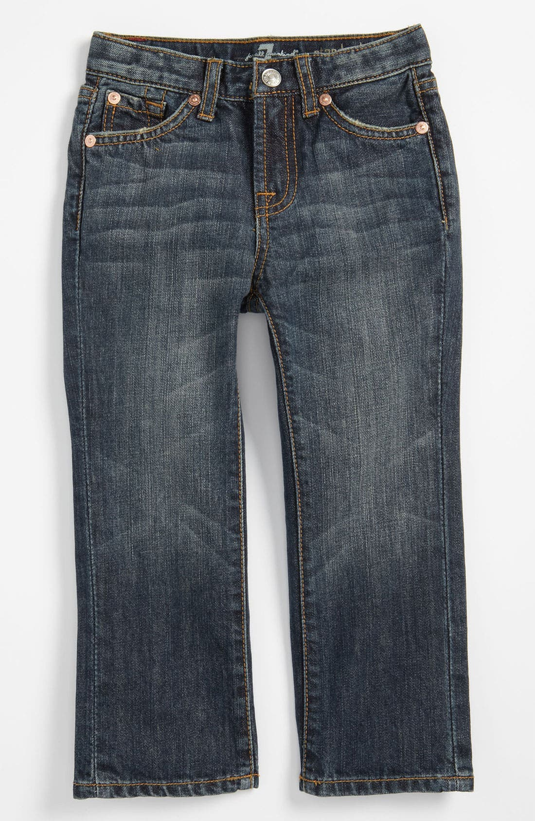 Alternate Image 2  - 7 For All Mankind® 'Standard' Straight Leg Jeans (Toddler)