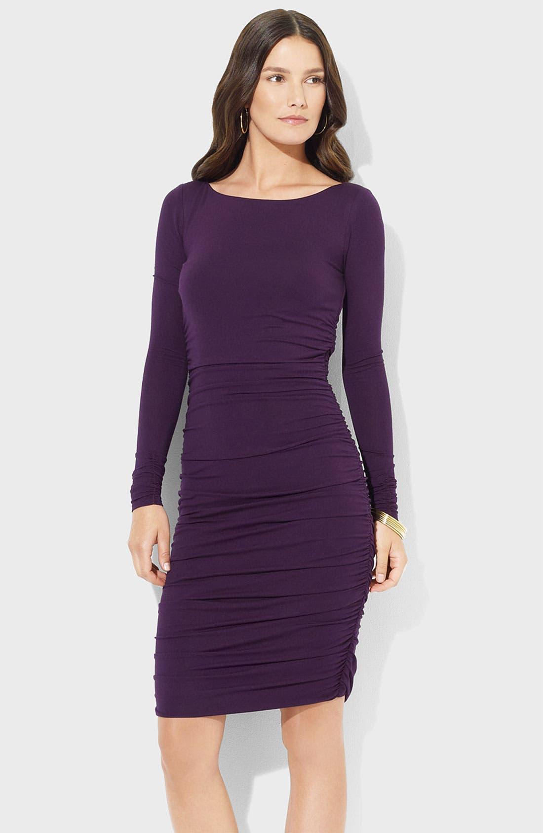 Alternate Image 1 Selected - Lauren Ralph Lauren Ruched Jersey Sheath Dress
