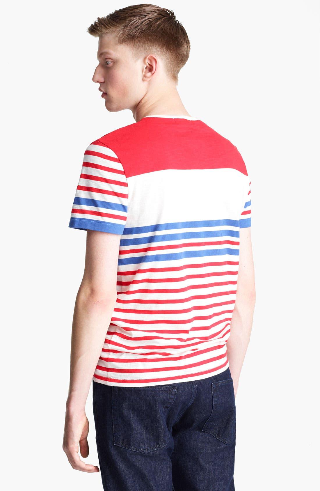 Alternate Image 2  - Topman Breton Stripe T-Shirt