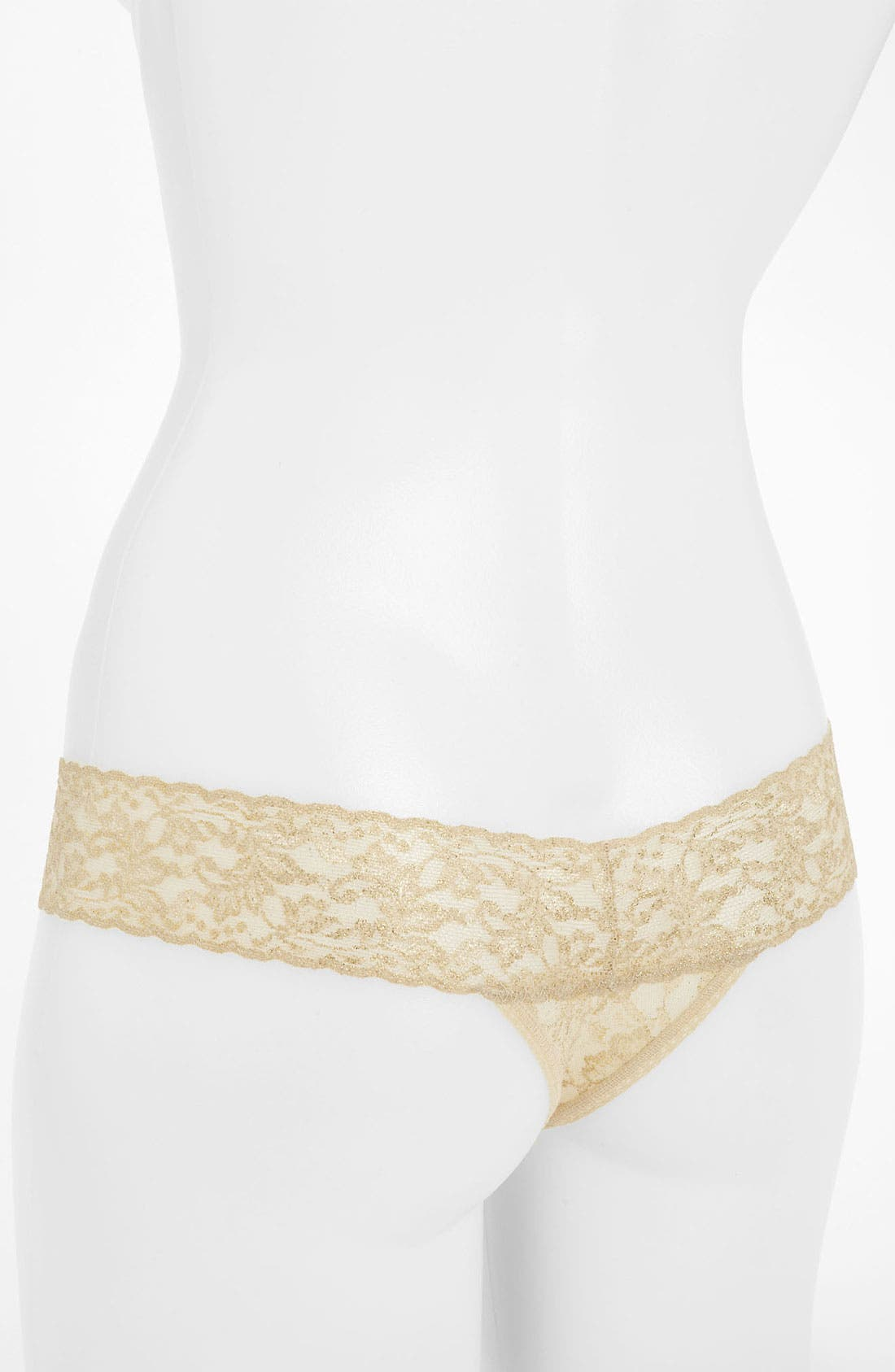 Alternate Image 2  - Hanky Panky Metallic Signature Lace Low Rise Thong