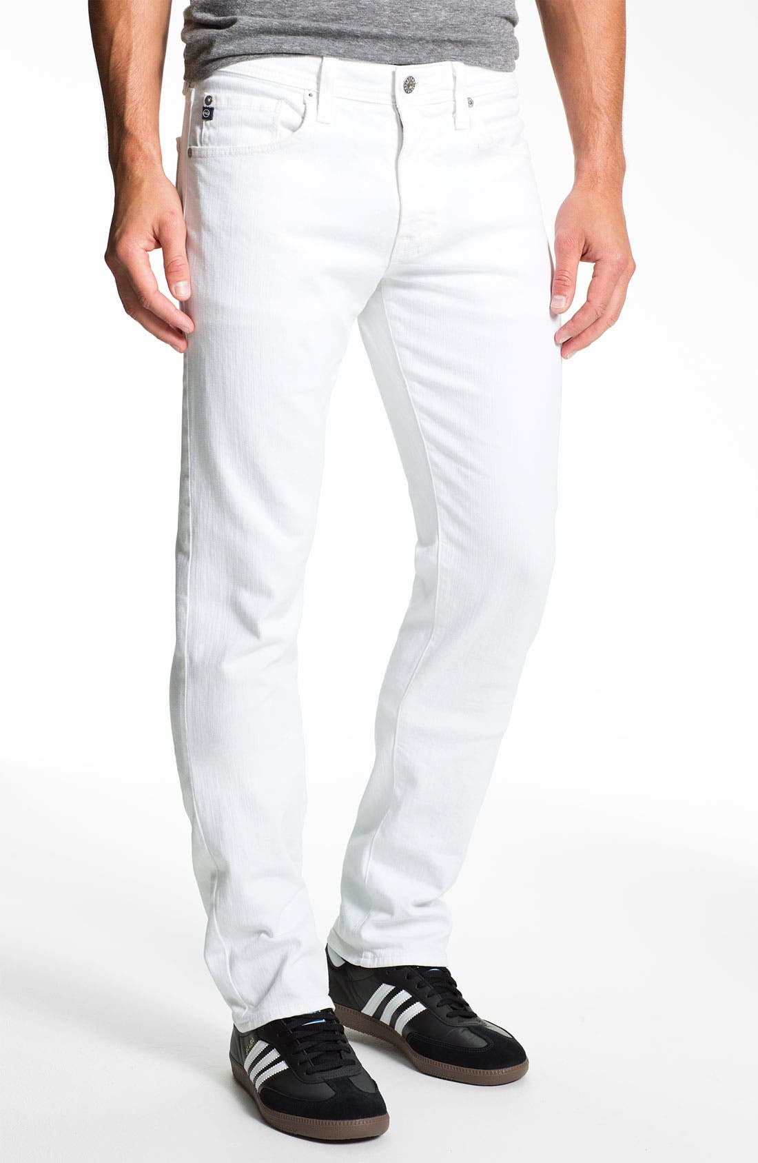 Alternate Image 1 Selected - AG Jeans 'Matchbox' Slim Fit Jeans (White)