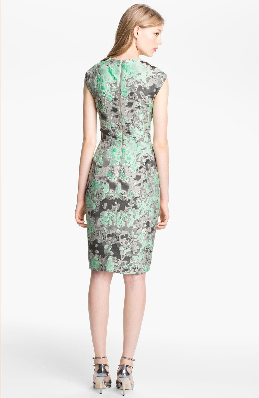 Alternate Image 2  - Lela Rose Jacquard Dress