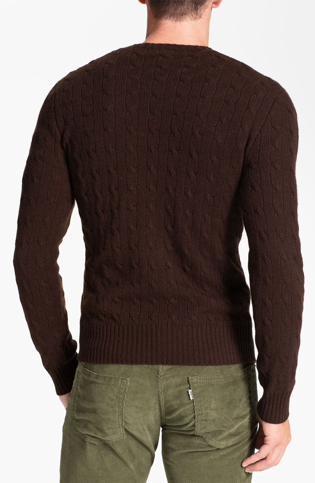 Alternate Image 2  - Polo Ralph Lauren Classic Fit Cable Knit Cashmere Sweater