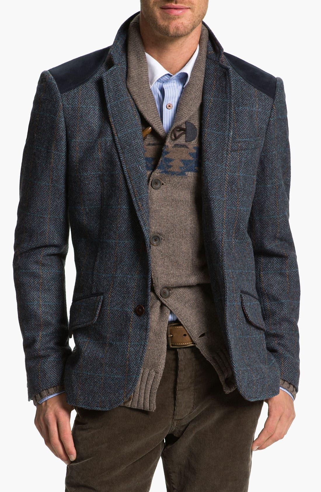 Alternate Image 1 Selected - Ted Baker London 'Rythjak' Shetland Wool Blazer