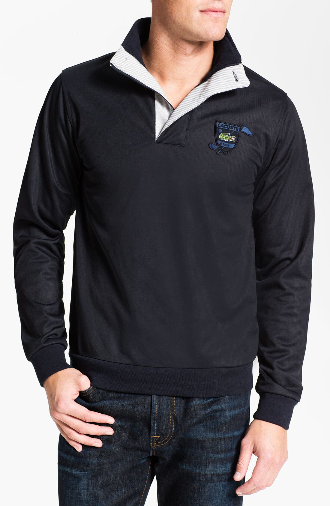 Alternate Image 1 Selected - Lacoste Golf Fleece Pullover