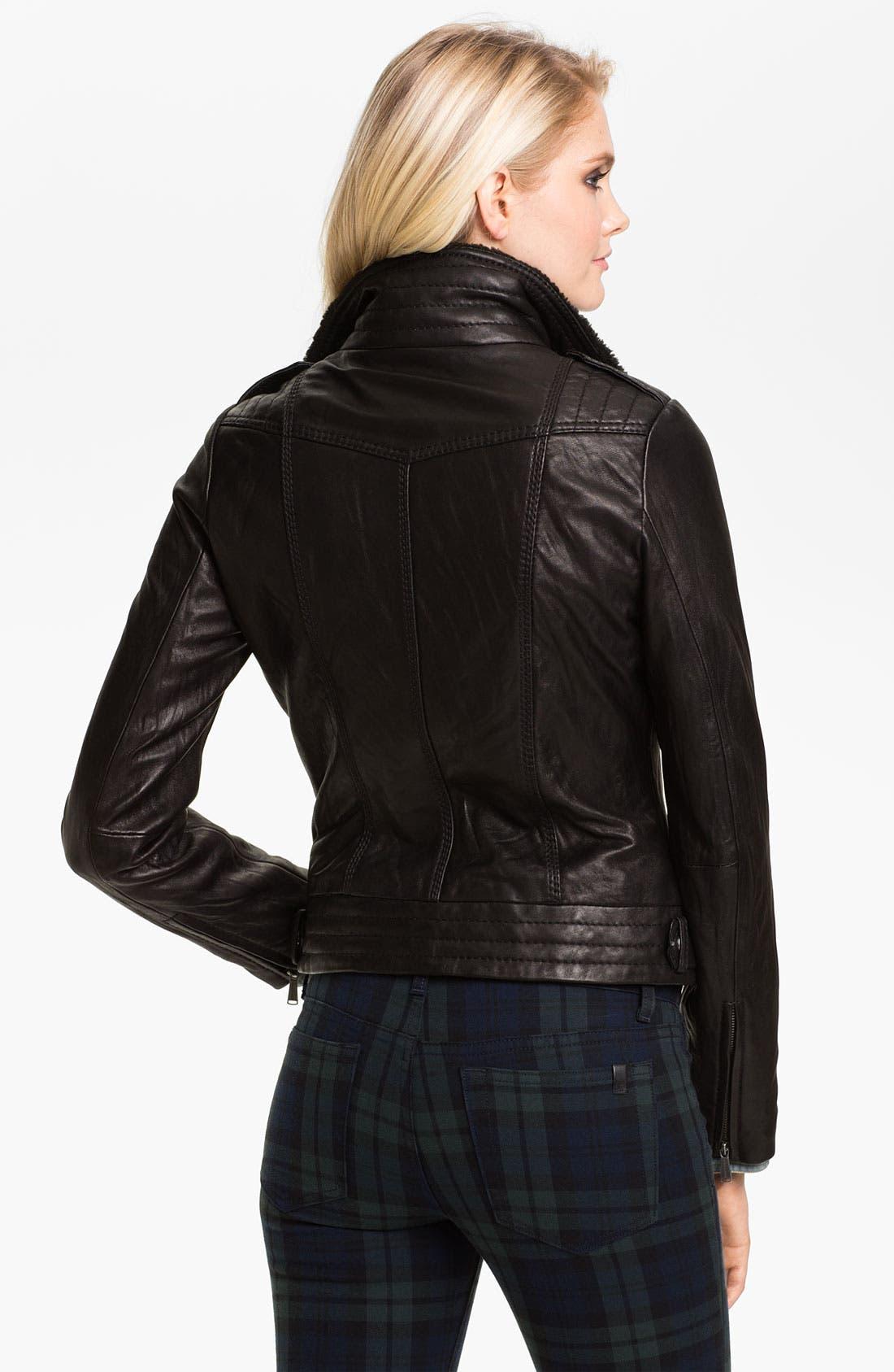 Alternate Image 2  - MICHAEL Michael Kors Asymmetrical Zip Leather Jacket