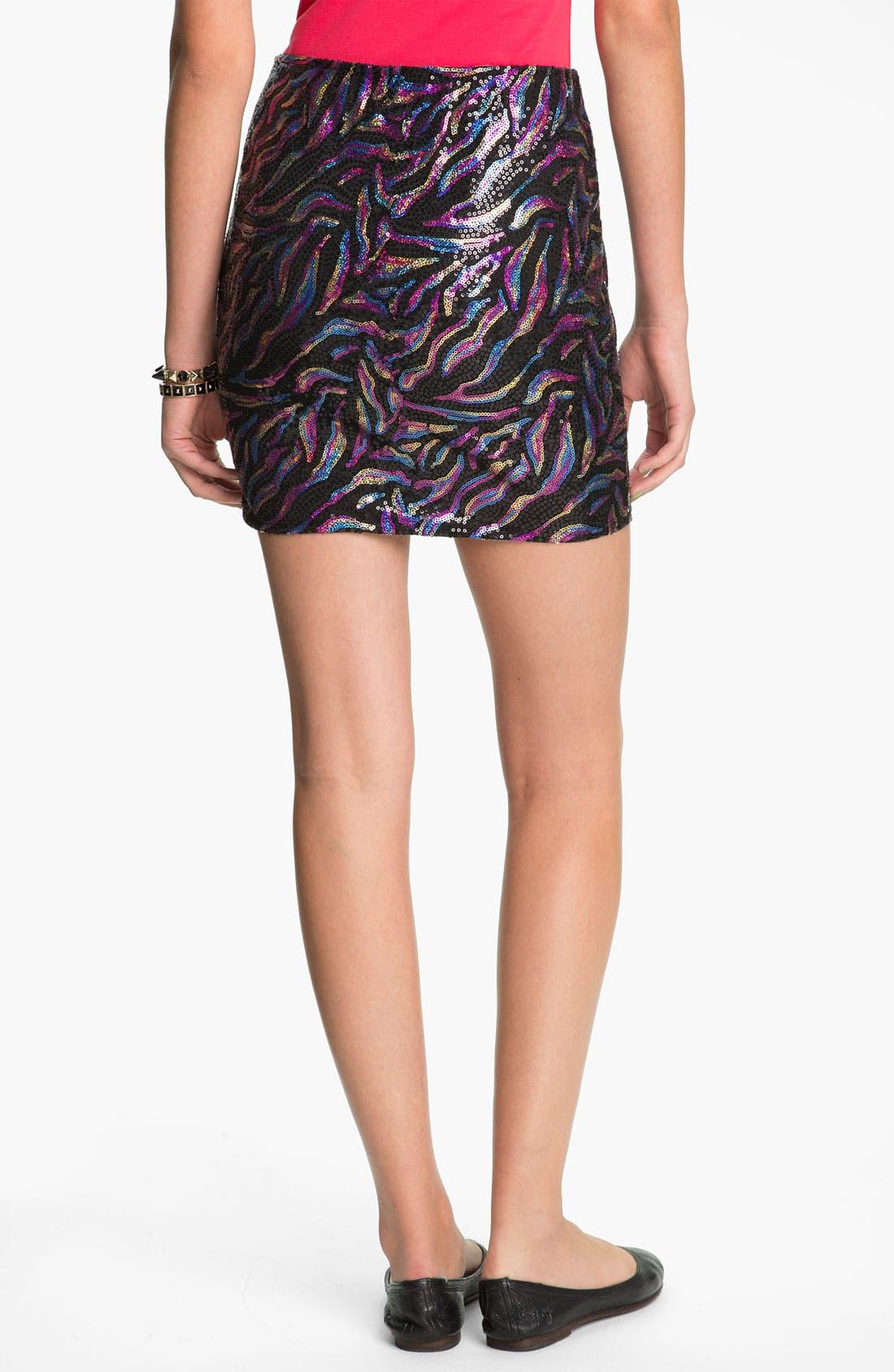 Alternate Image 2  - Lily White Sequin Skirt (Juniors)