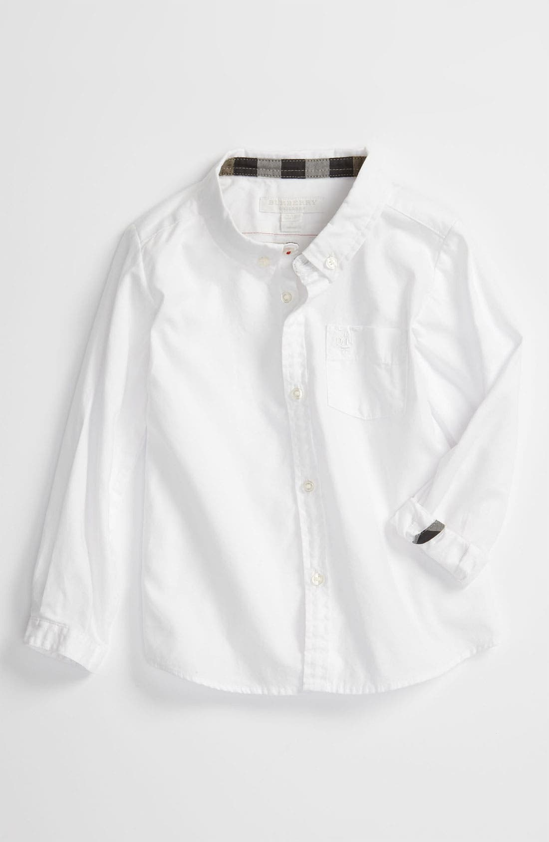 Alternate Image 1 Selected - Burberry Woven Shirt (Toddler)