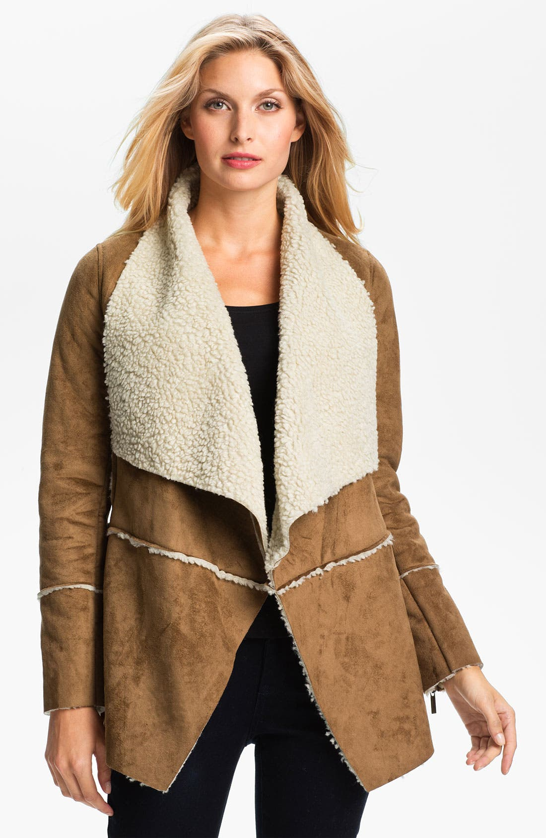 Alternate Image 1 Selected - MICHAEL Michael Kors Faux Shearling Coat