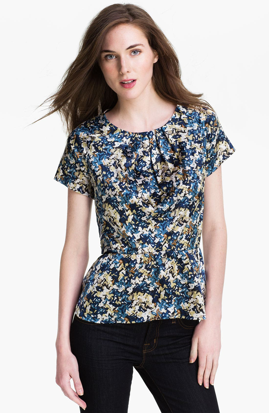 Alternate Image 1 Selected - Pleione Woven Peplum Blouse