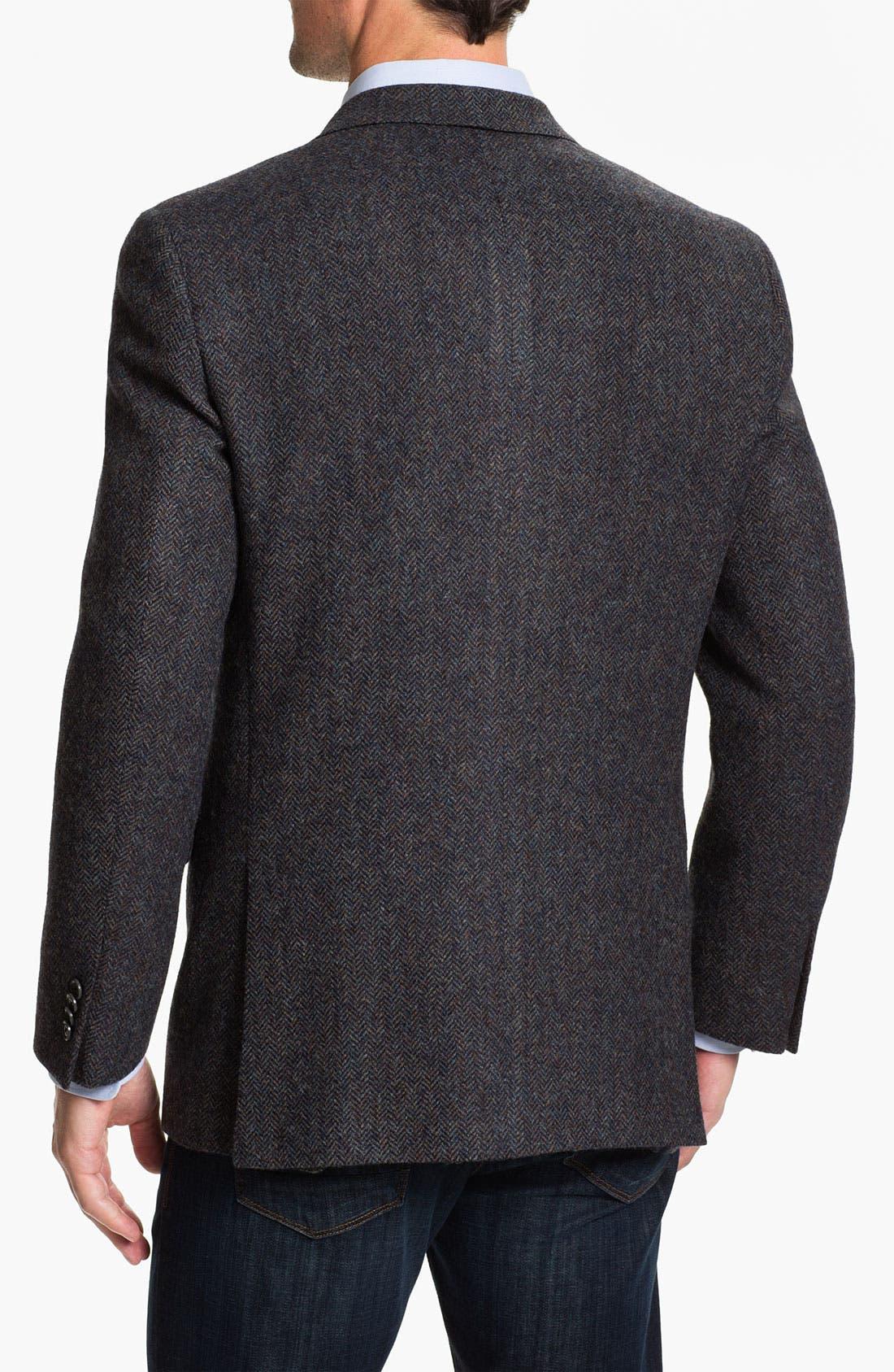 Alternate Image 2  - Hart Schaffner Marx Herringbone Sportcoat