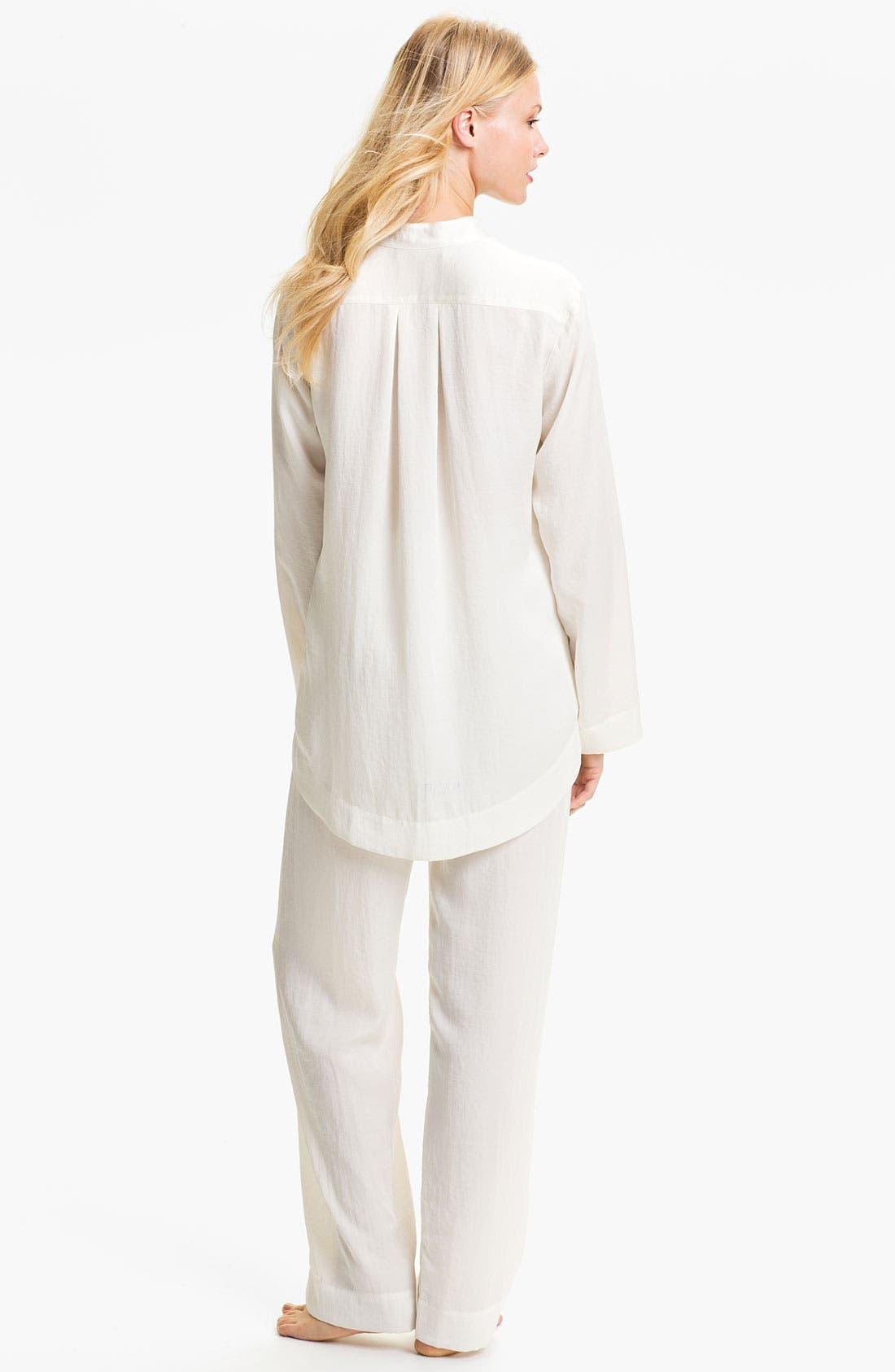 Alternate Image 2  - Donna Karan Laundered Satin Pajamas