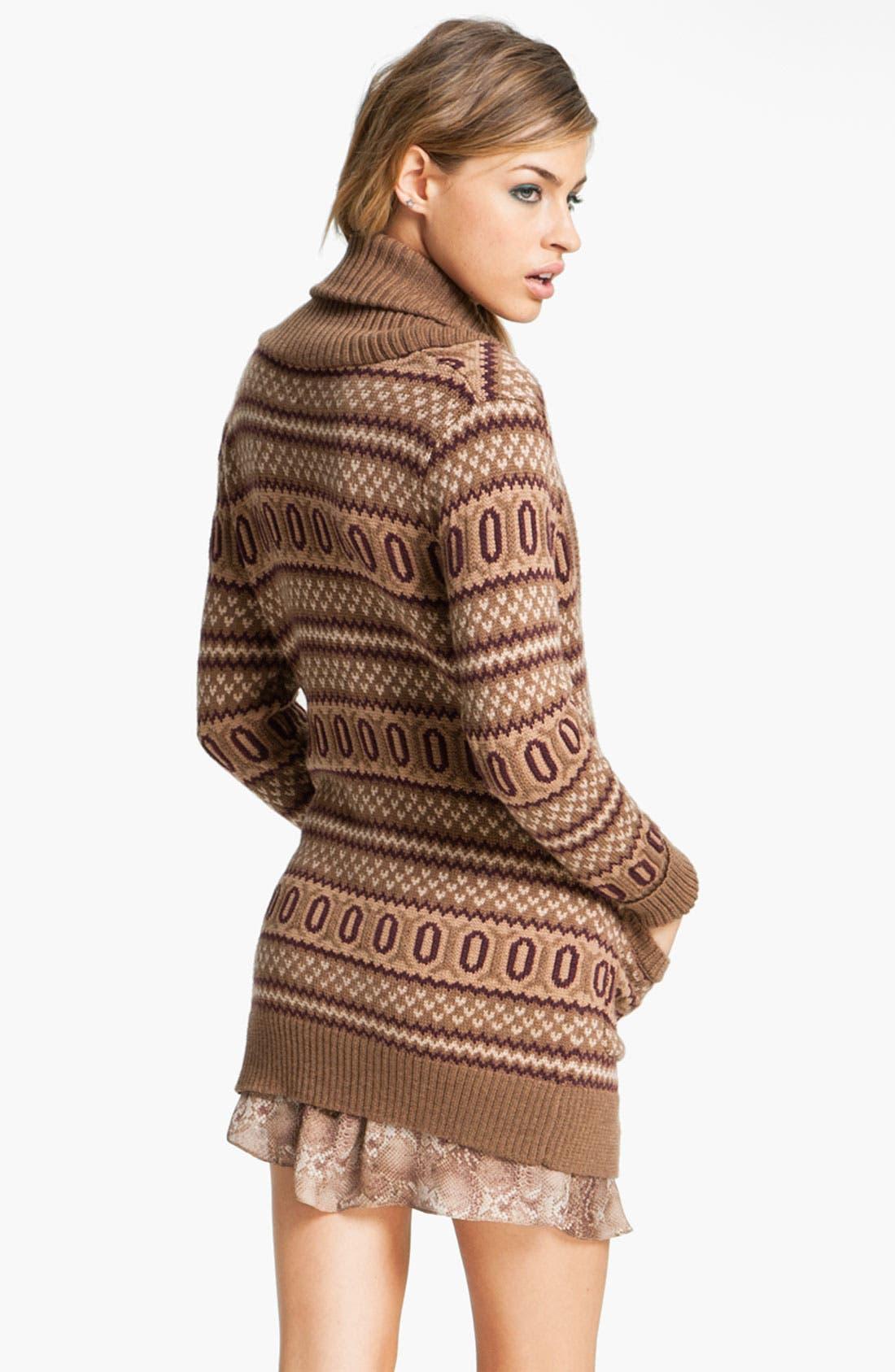 Alternate Image 2  - Haute Hippie Intarsia Merino Wool Cardigan