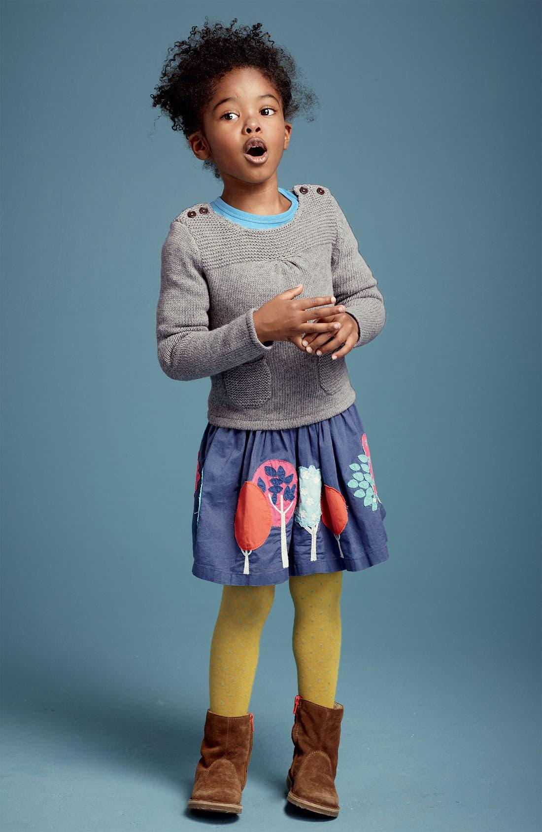 Alternate Image 2  - Mini Boden Appliqué Skirt (Little Girls & Big Girls)