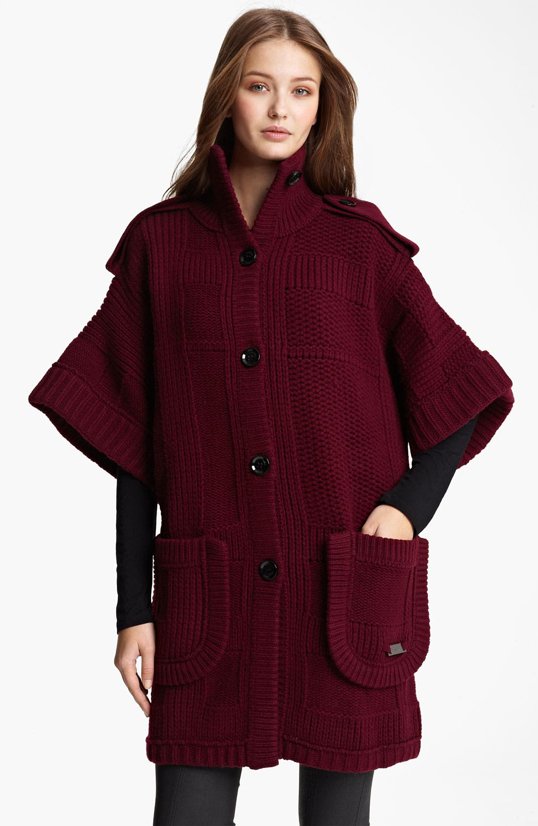 Alternate Image 1 Selected - Burberry Brit Chunky Knit Cardigan (Online Exclusive)