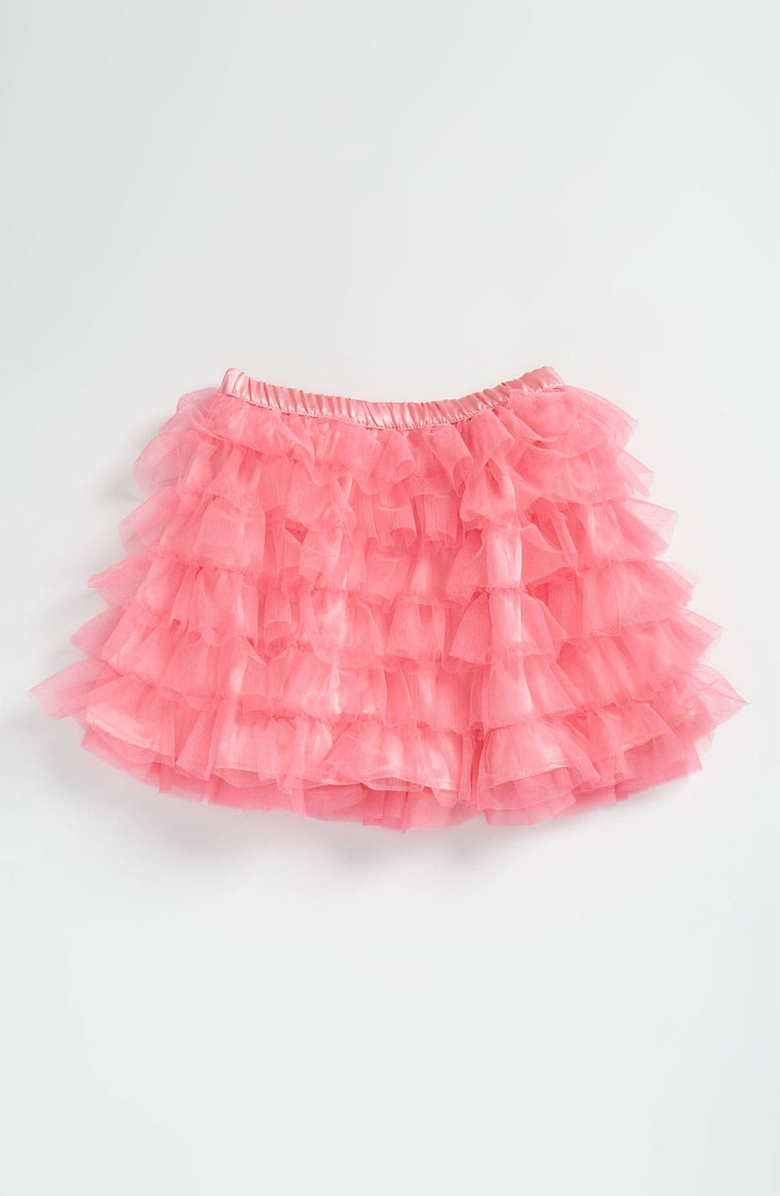 Alternate Image 1 Selected - Paper Doll Mesh Skirt (Little Girls)