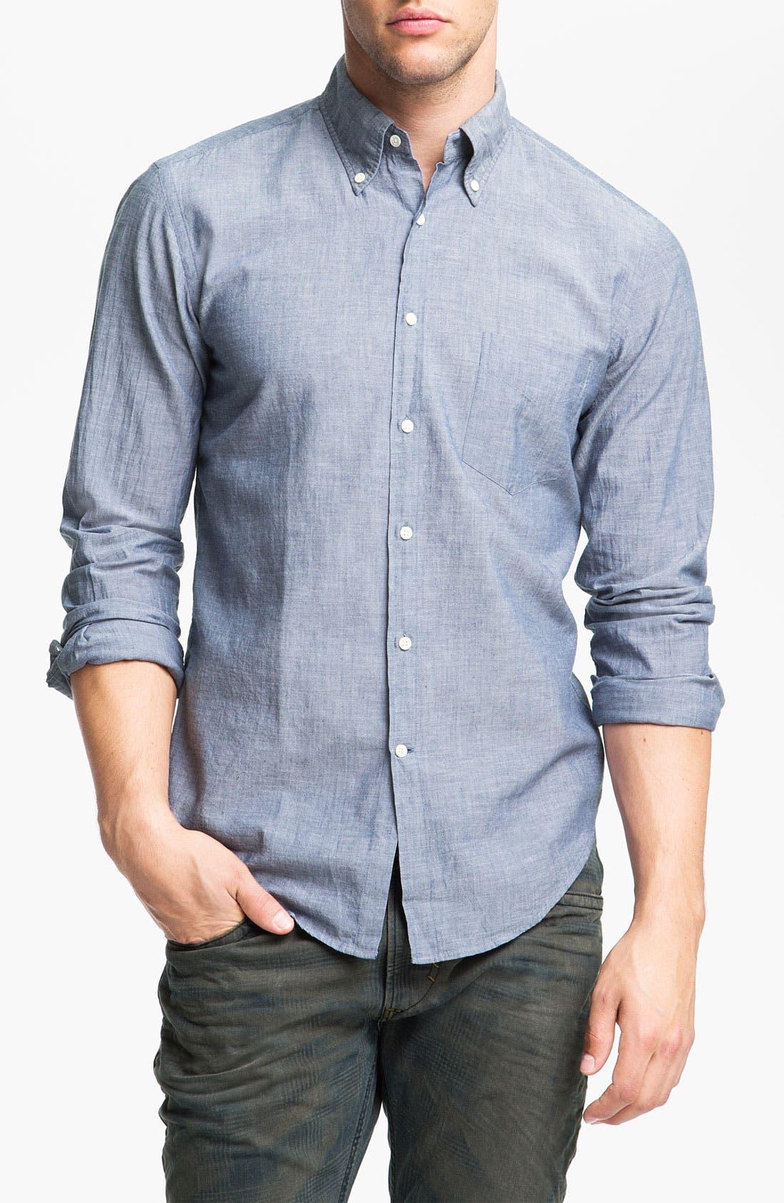 Alternate Image 1 Selected - Gant Rugger Chambray Shirt