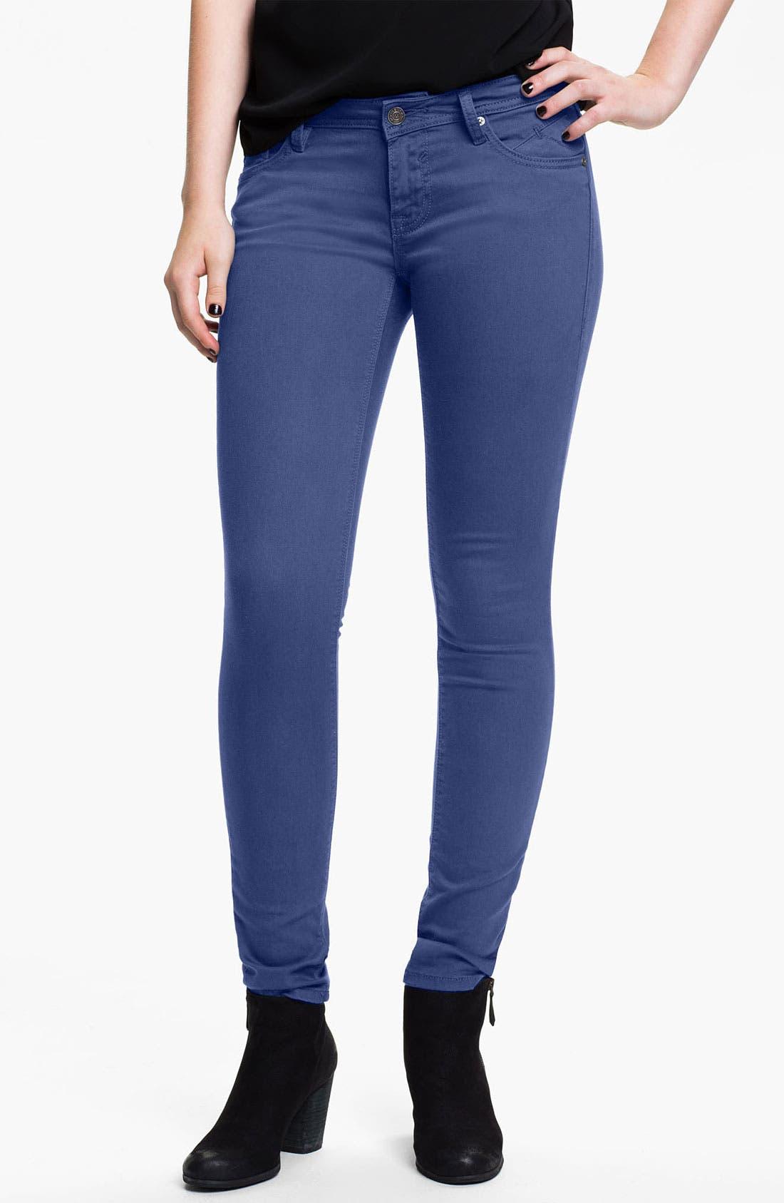 Alternate Image 2  - Vigoss Color Skinny Jeans (Juniors) (Online Exclusive)