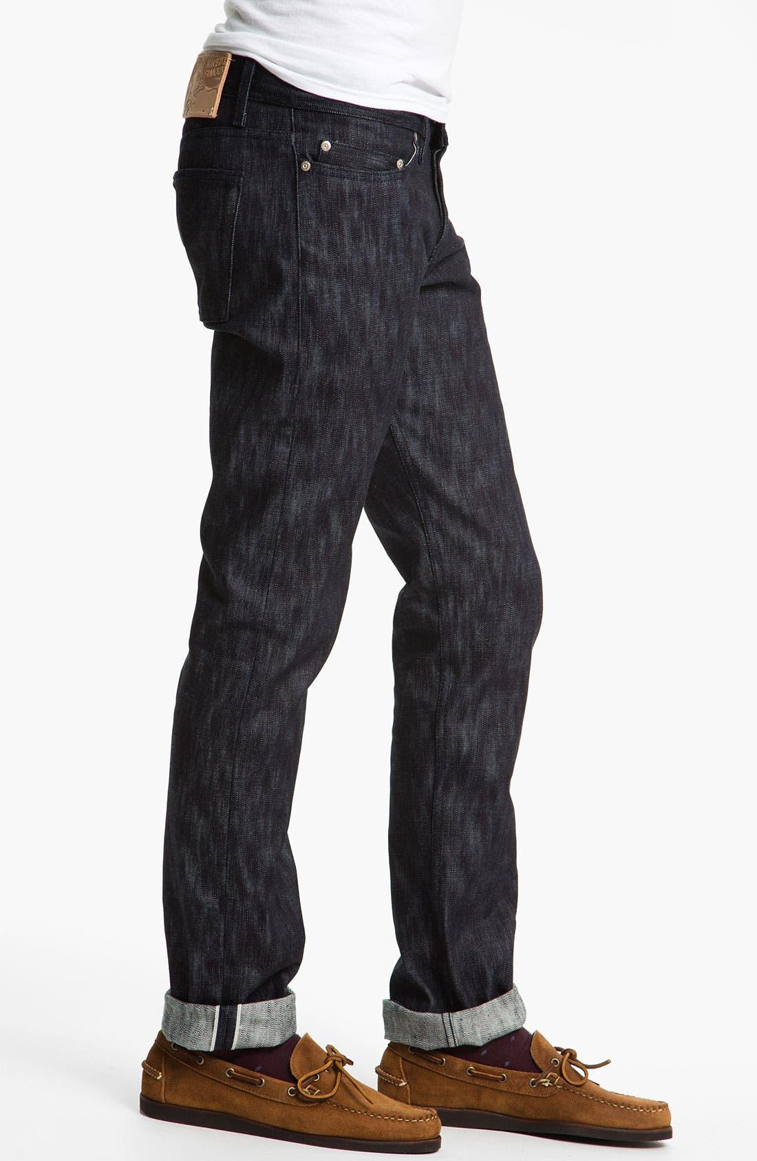 Alternate Image 3  - Naked & Famous Denim 'Weird Guy' Slim Tapered Leg Selvedge Jeans (Slubbed Indigo)
