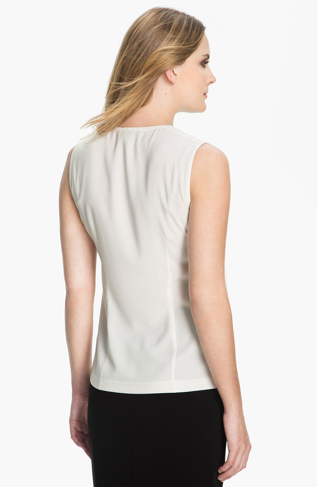 Alternate Image 3  - St. John Collection Drape Front Sleeveless Top
