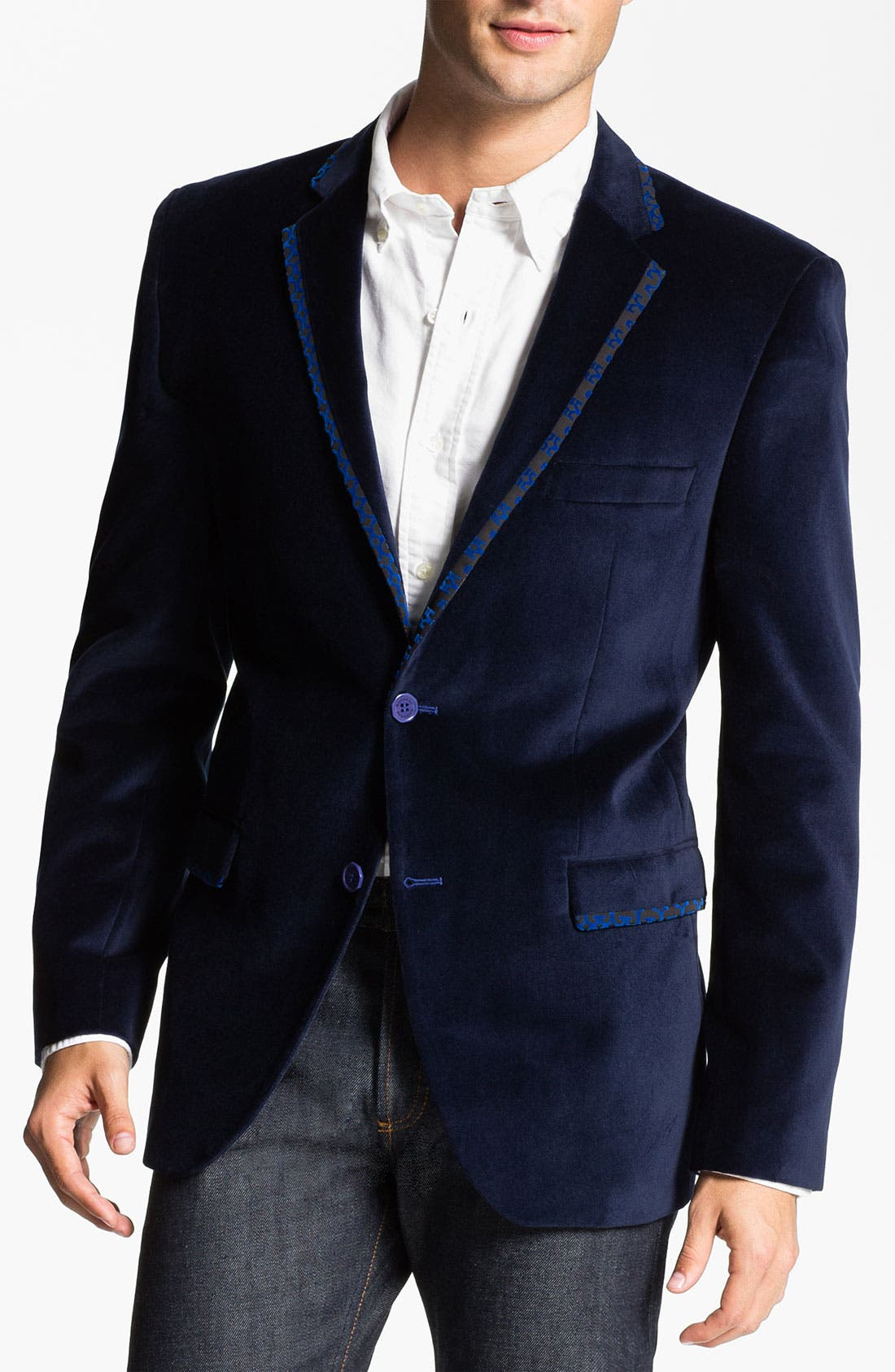 Main Image - Bogosse 'Thomas' Velvet Blazer