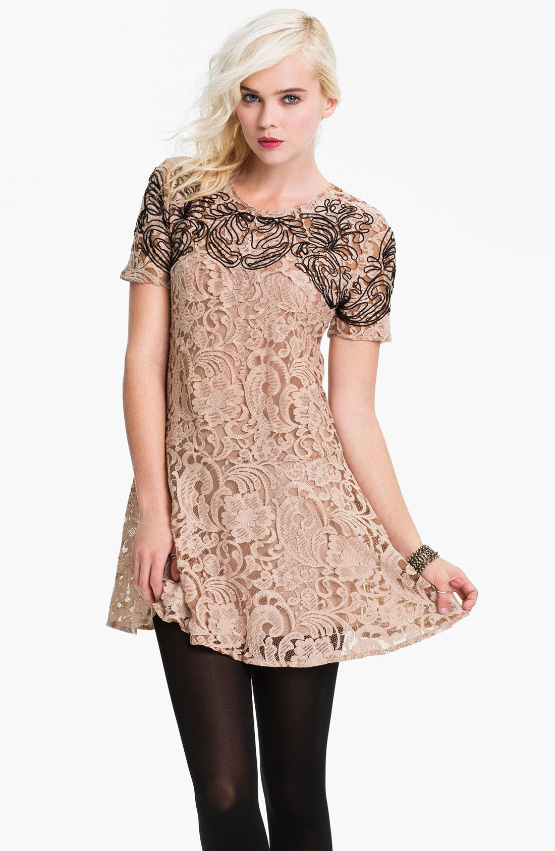 Main Image - Free People 'Beautiful Dreamer' Lace Dress