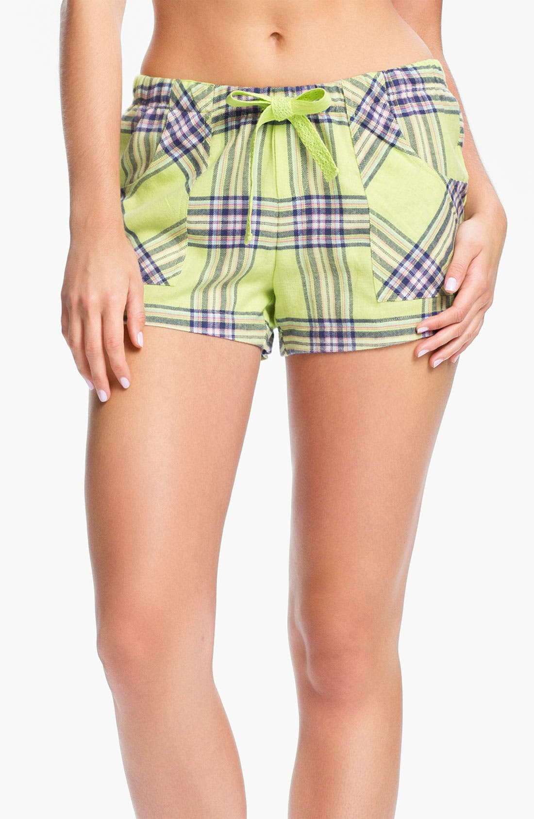 Alternate Image 1 Selected - Make + Model 'Cozy Time' Flannel Boxer Shorts
