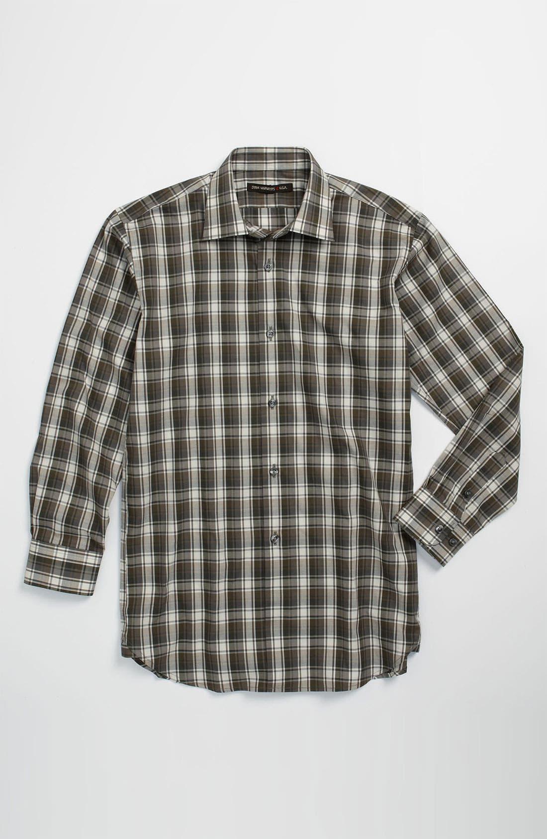 Main Image - John Varvatos Star USA Plaid Dress Shirt (Big Boys)