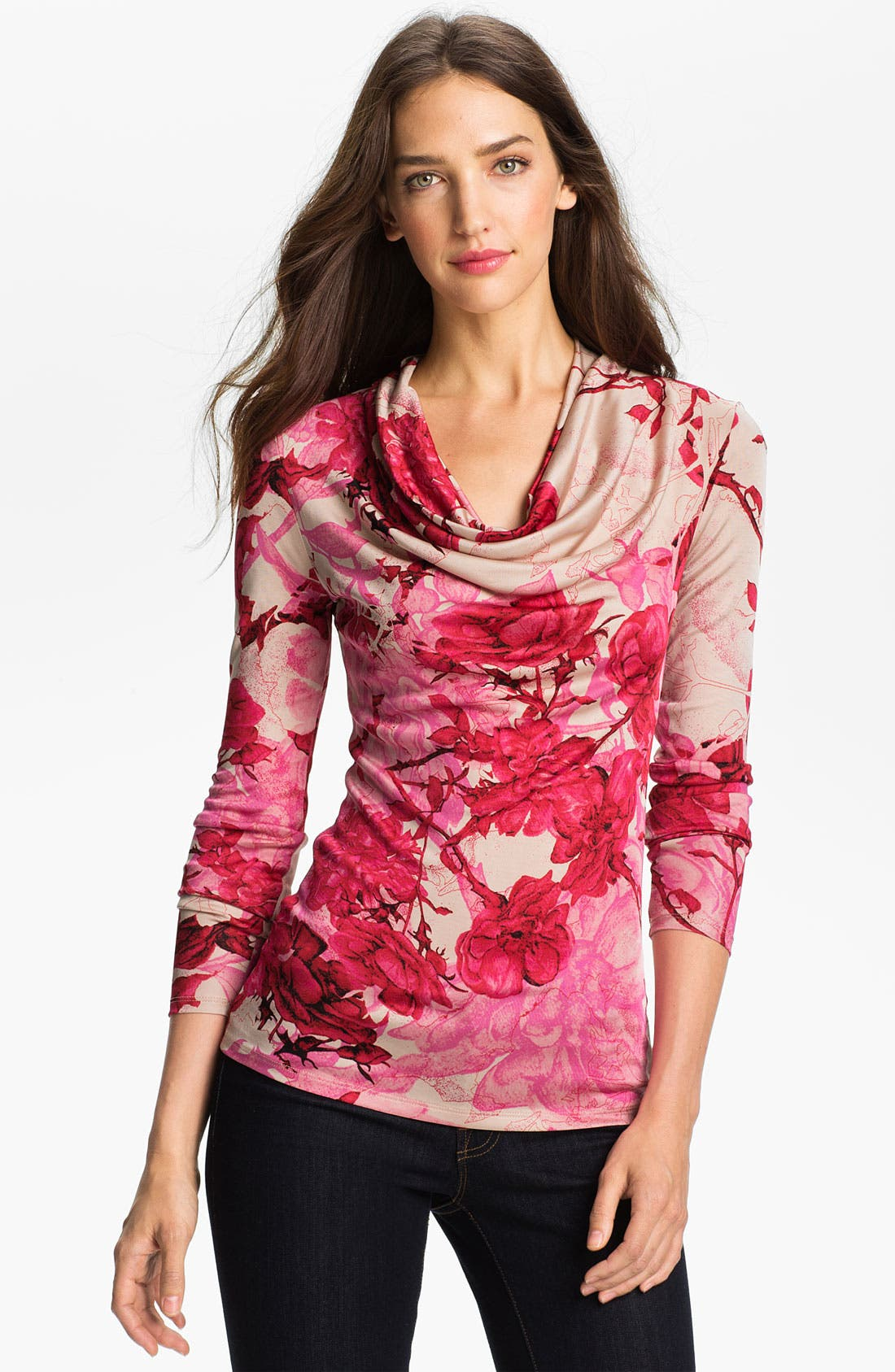 Alternate Image 1 Selected - Ted Baker London 'Floral Etchings' Print Top