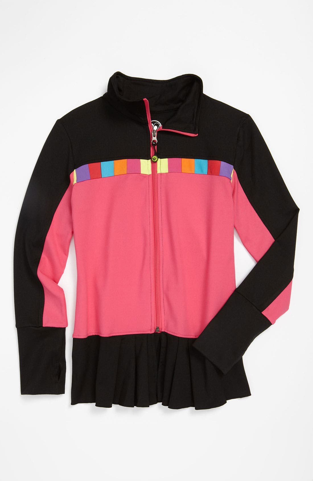 Alternate Image 1 Selected - Limeapple Pleated Jacket (Big Girls)