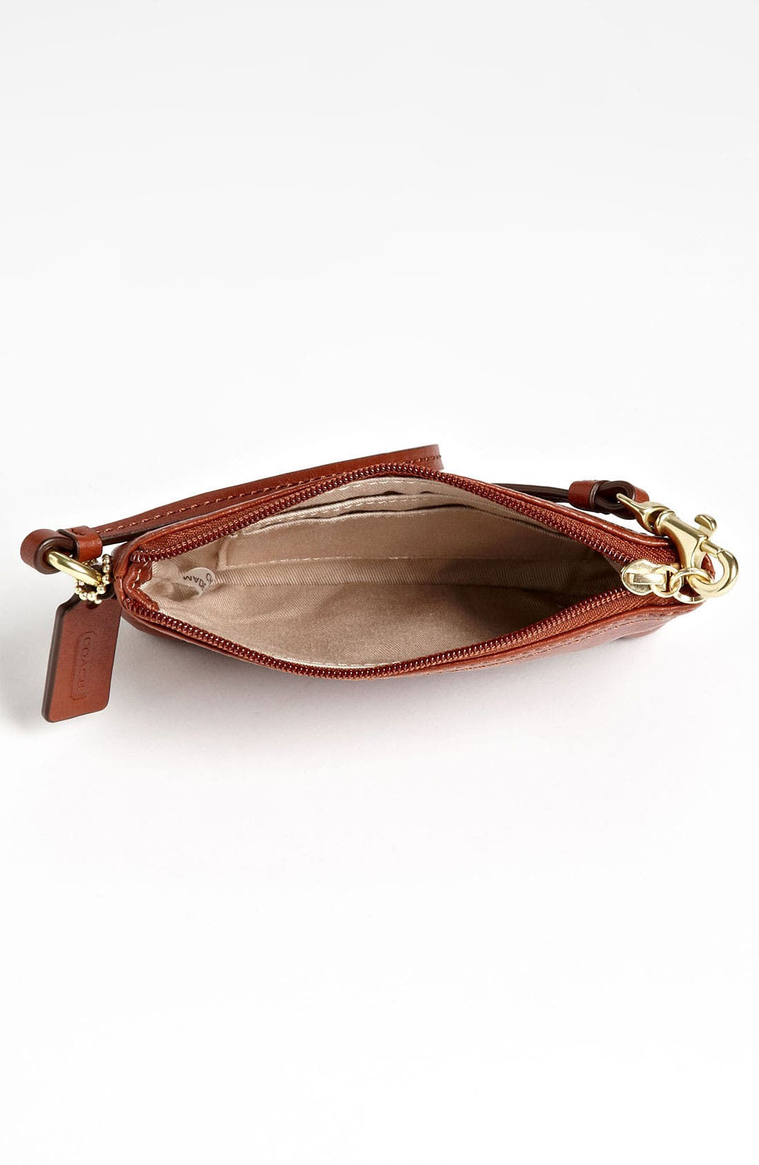 Alternate Image 3  - COACH 'Small' Leather Wristlet