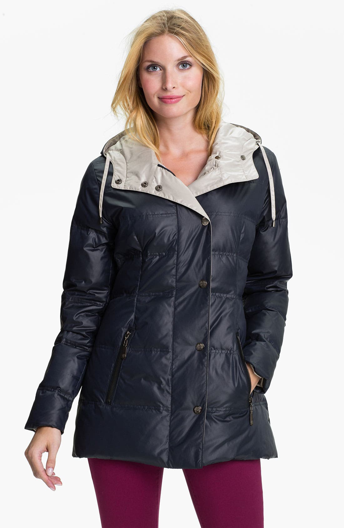 Alternate Image 1 Selected - Vince Camuto Hooded Down & Feather Coat