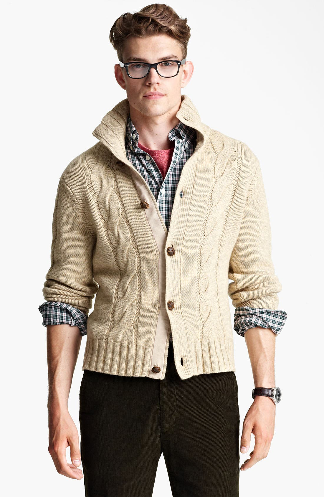 Alternate Image 1 Selected - Jack Spade 'McGrady' Lambswool Cable Knit Sweater