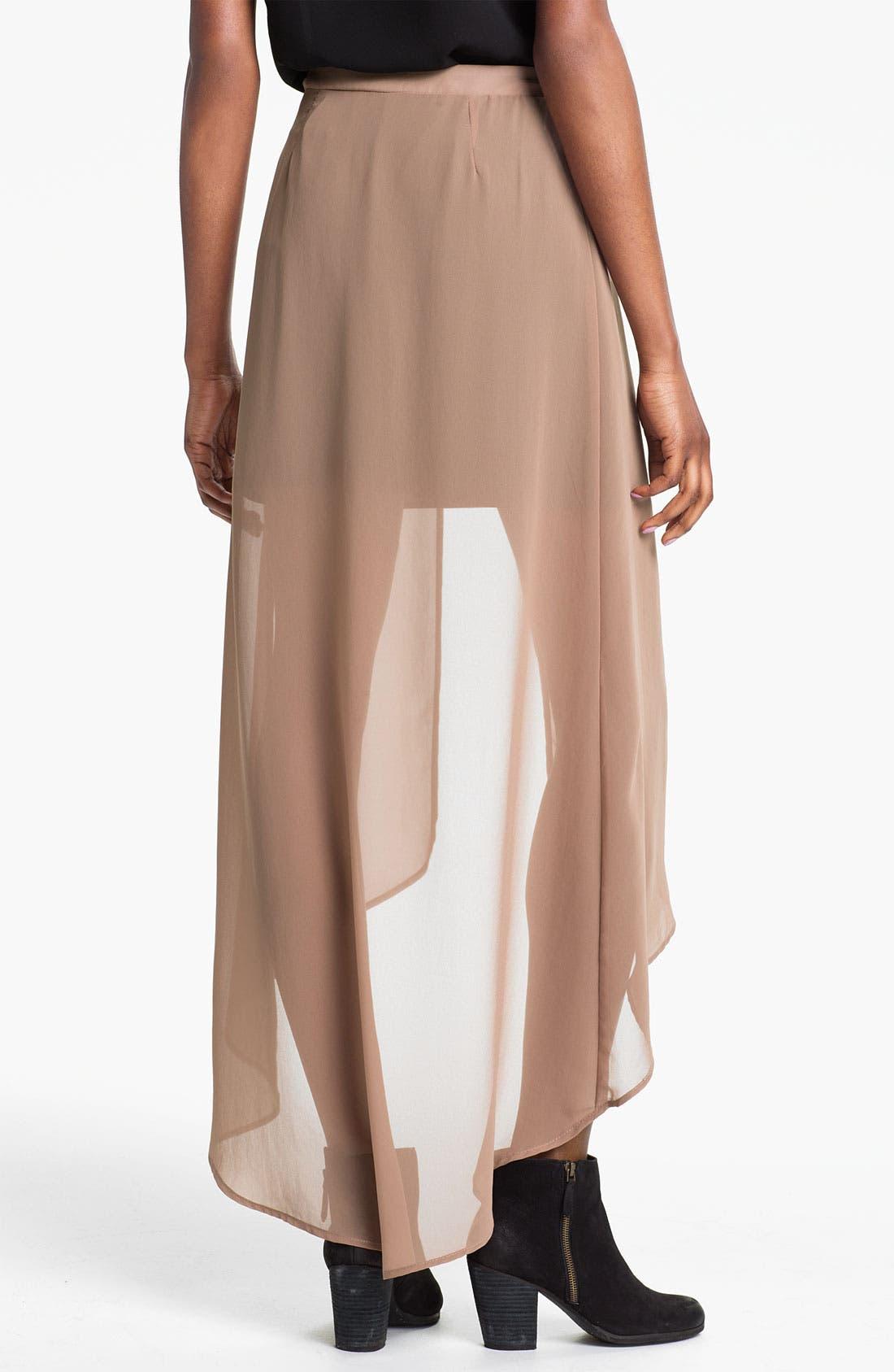 Alternate Image 2  - Lush Layered High/Low Maxi Skirt (Juniors)