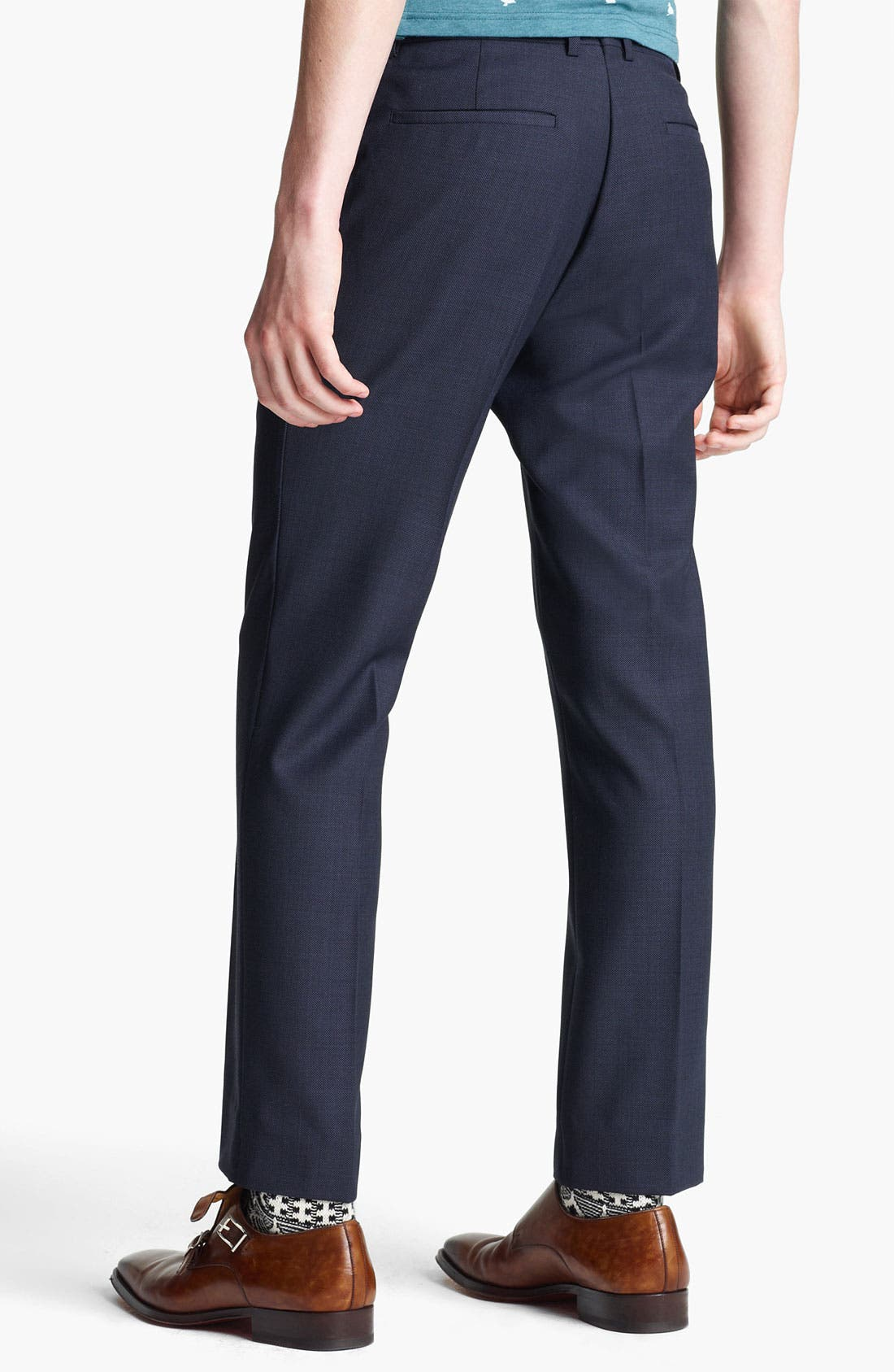 Alternate Image 2  - Topman Pin Dot Skinny Fit Trousers