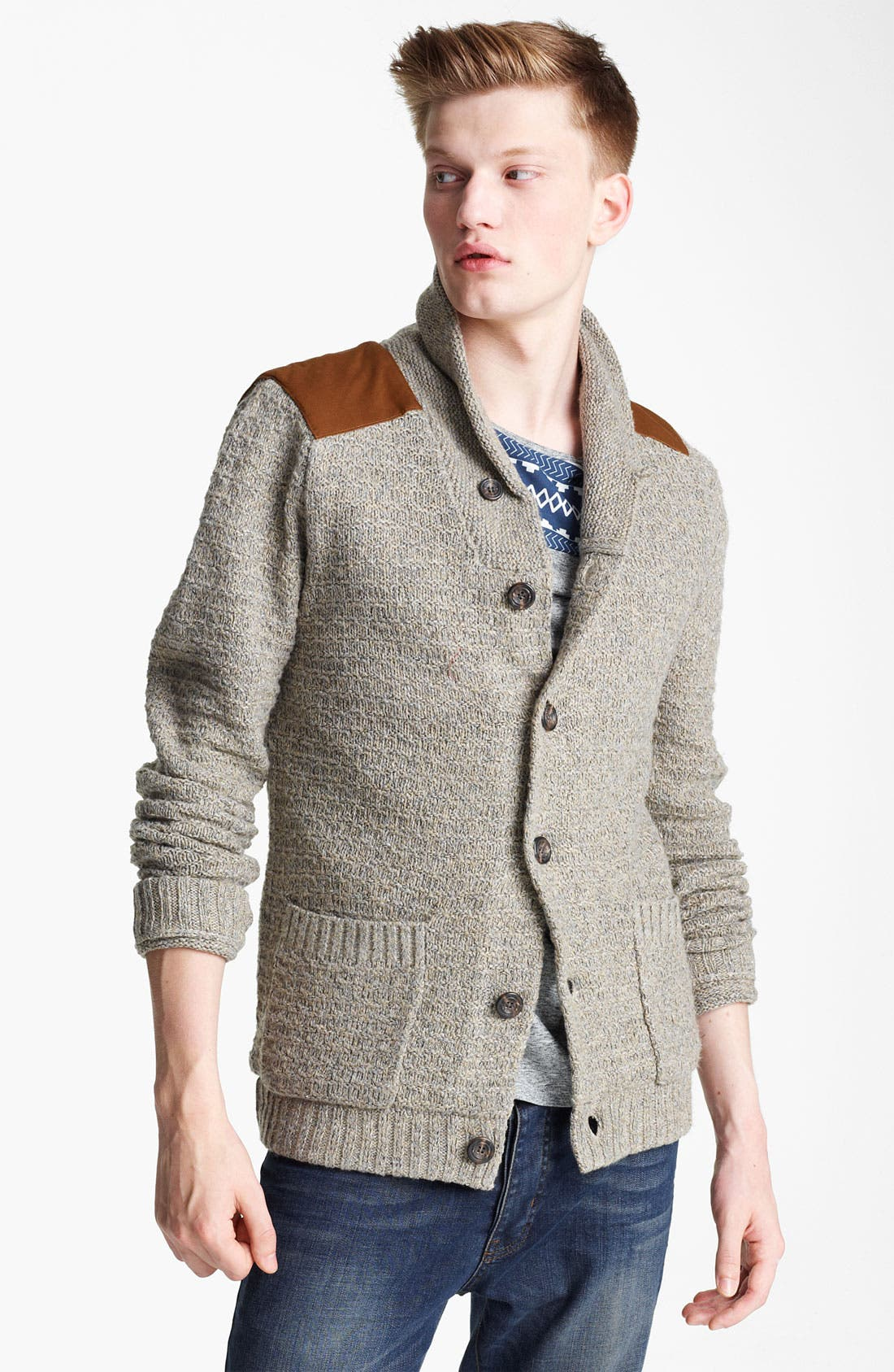 Alternate Image 1 Selected - Topman 'Borg' Shawl Collar Cardigan