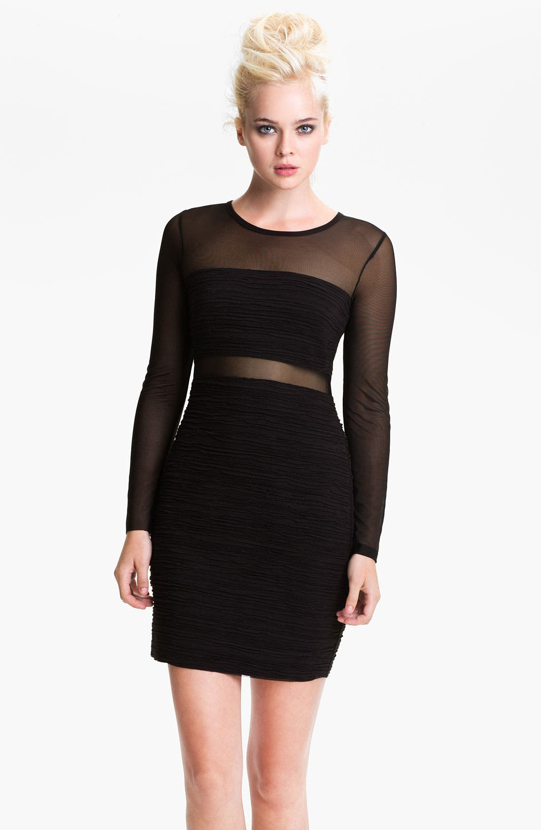 Alternate Image 1 Selected - Bailey 44 'Venom' Mesh Banded Body-Con Dress