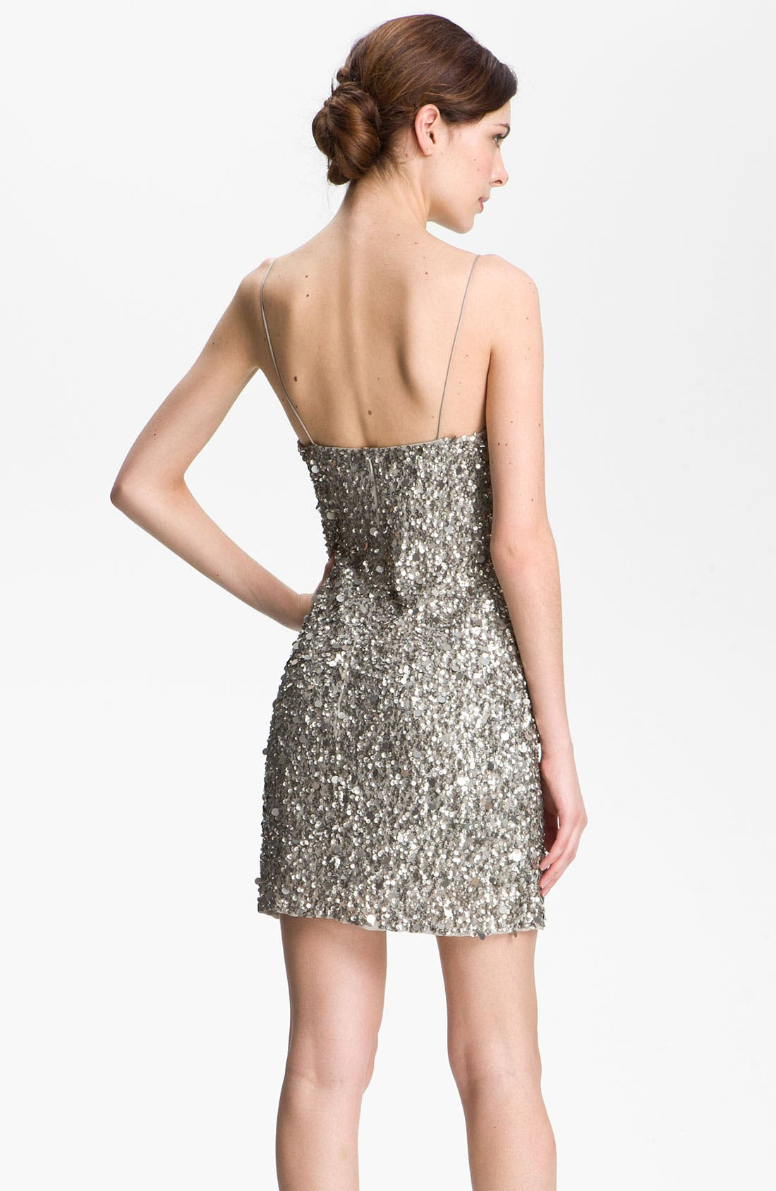 Alternate Image 2  - Adrianna Papell Sequin Sheath Dress