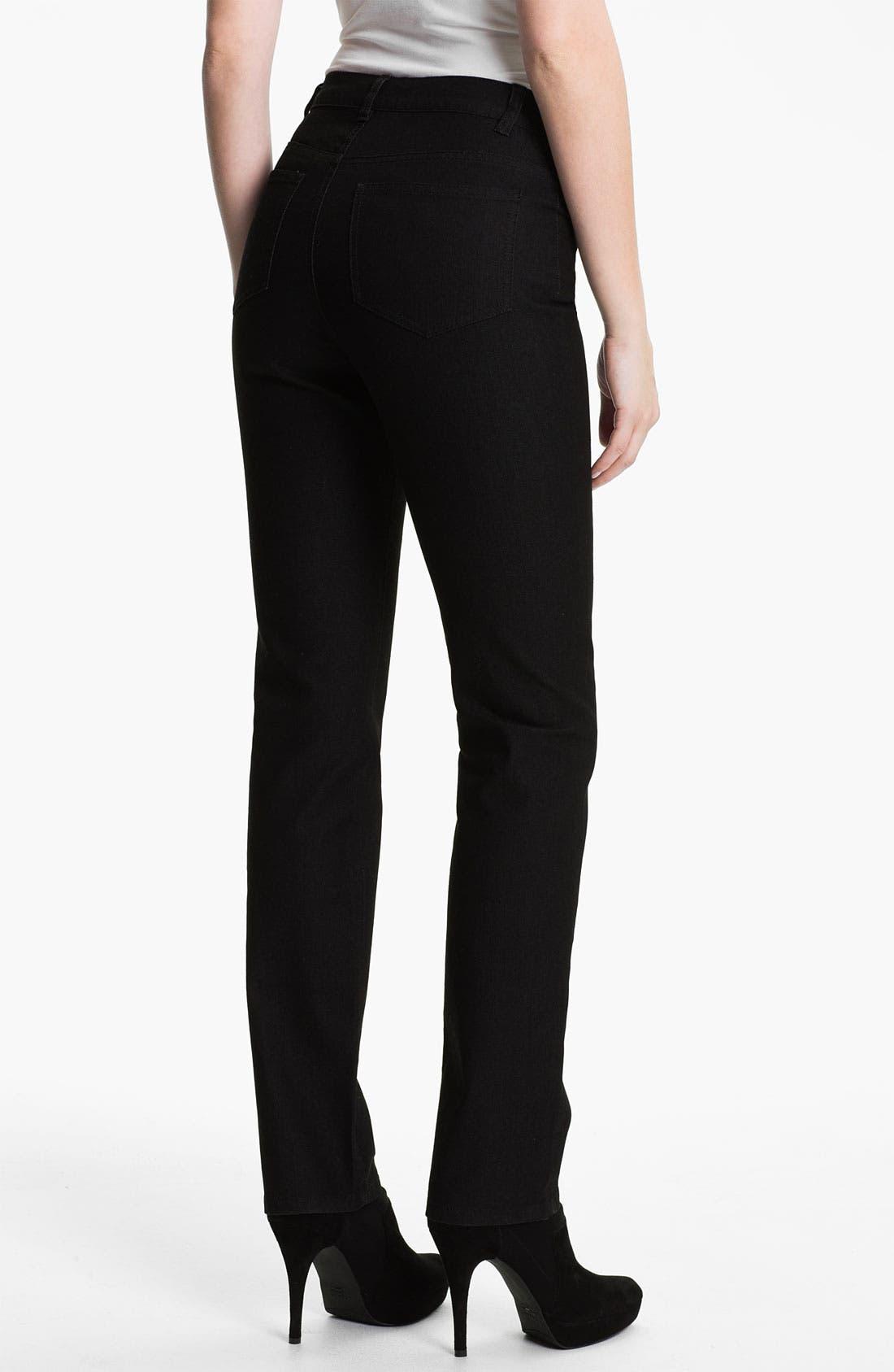 Alternate Image 2  - Lafayette 148 New York Curvy Fit Jeans (Regular & Petite)