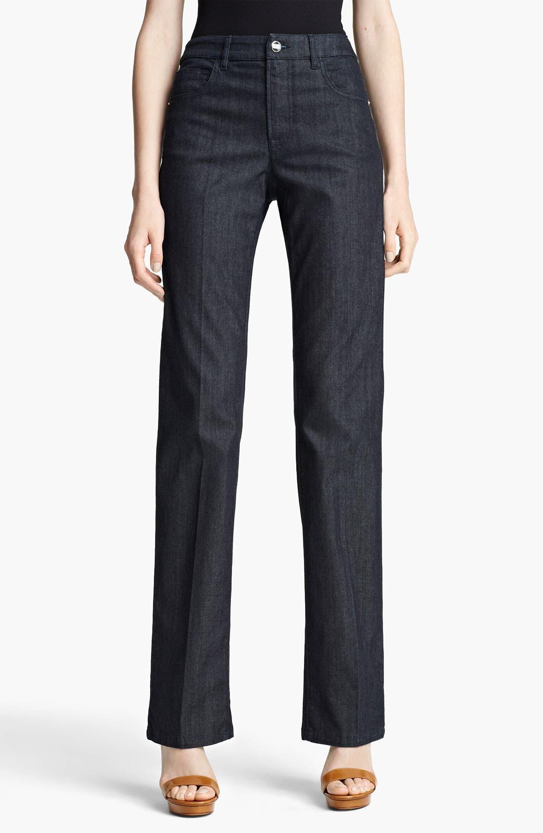 Alternate Image 1 Selected - Armani Collezioni Straight Leg Stretch Jeans