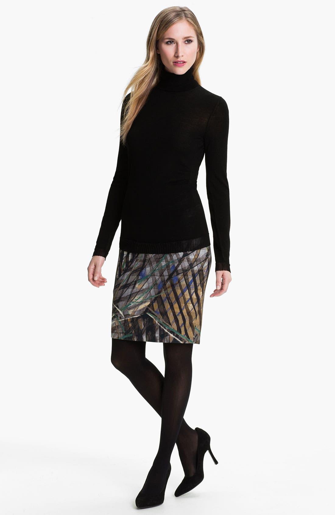 Alternate Image 4  - BOSS HUGO BOSS Wool Jersey Turtleneck