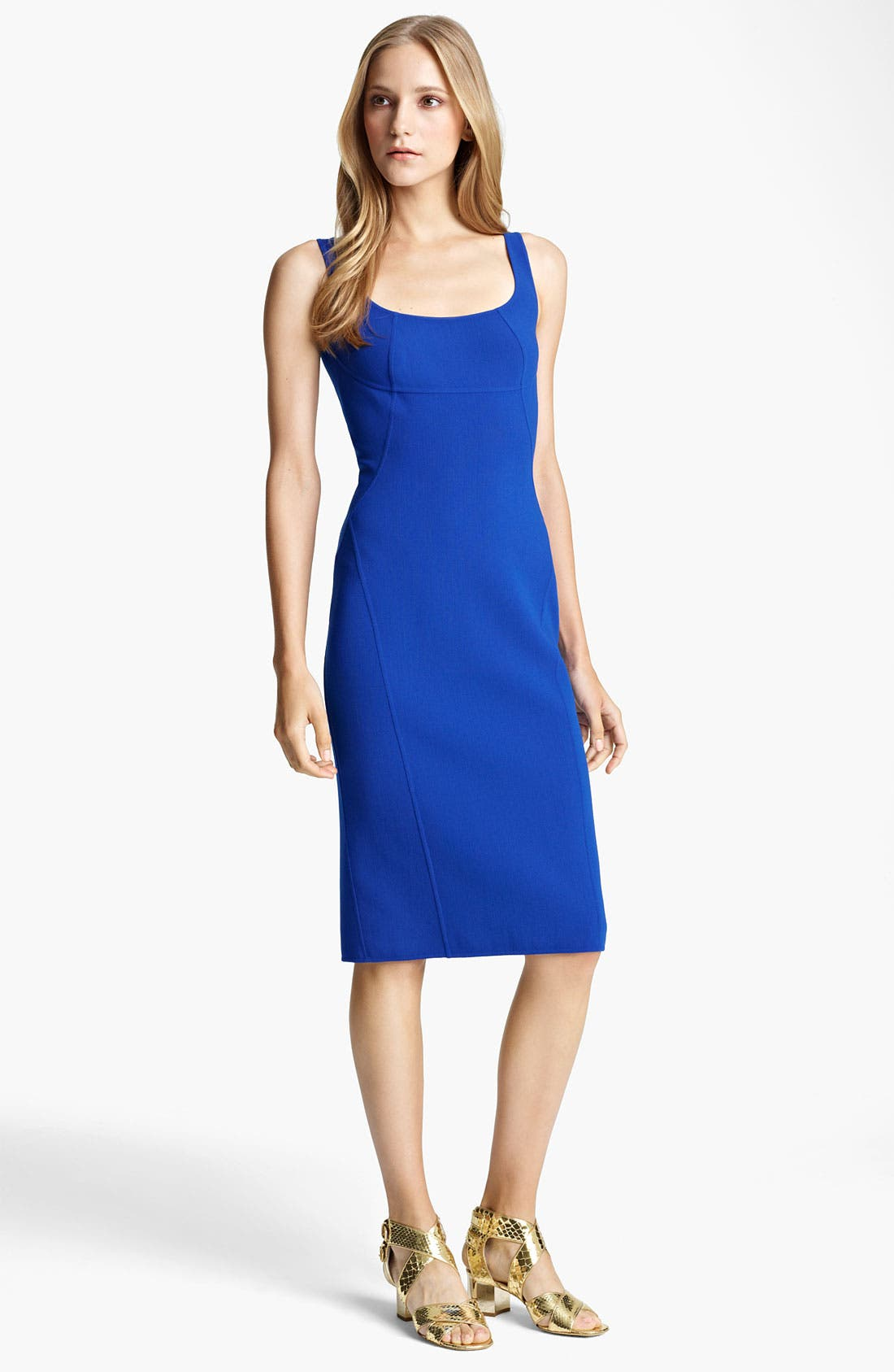 Alternate Image 1 Selected - Michael Kors Double Face Wool Crepe Dress