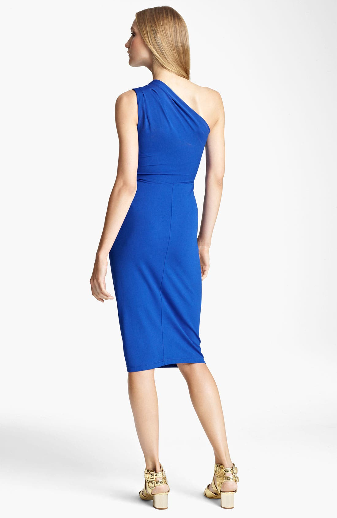 Alternate Image 2  - Michael Kors One Shoulder Matte Jersey Sheath Dress