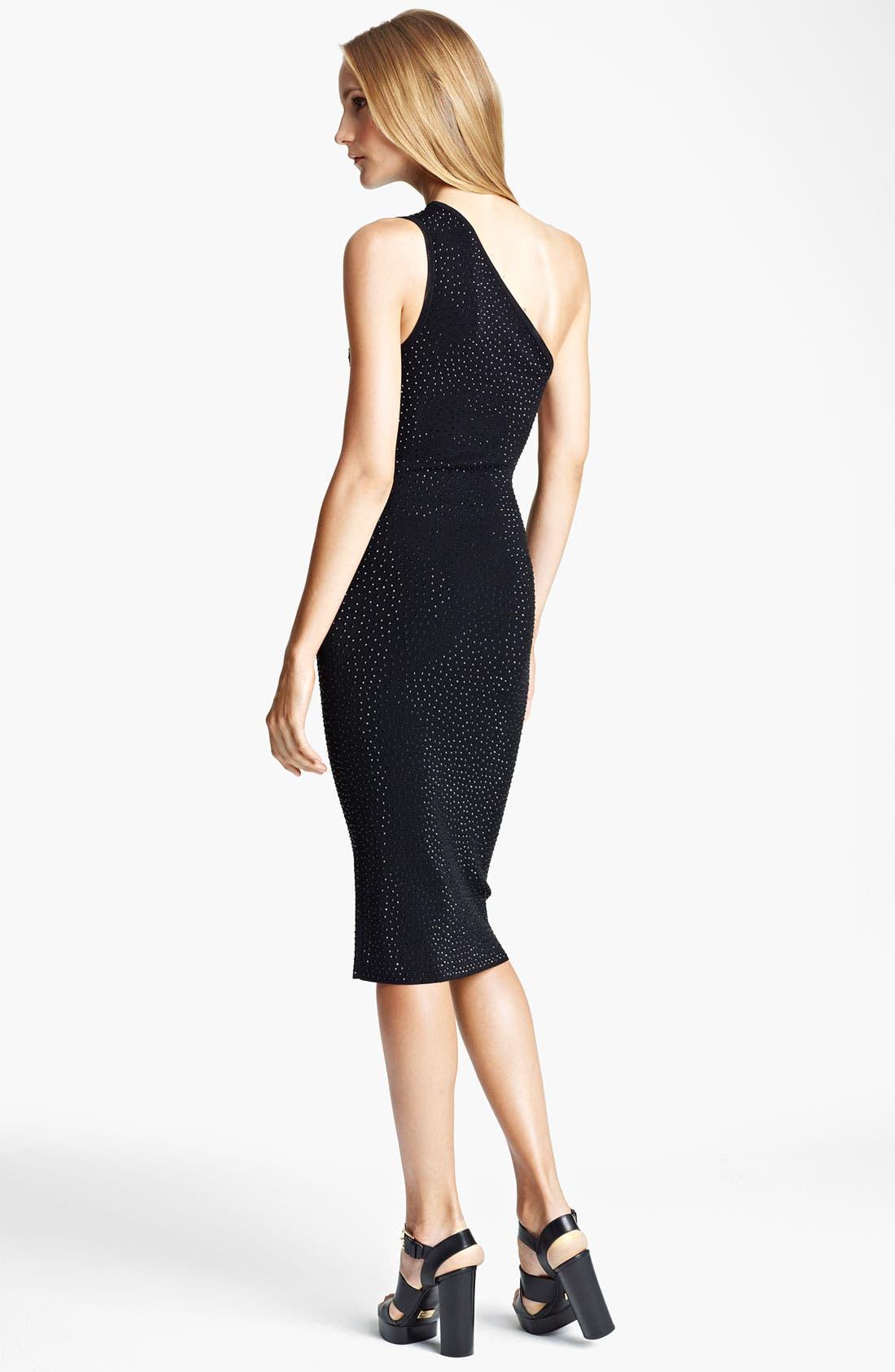 Alternate Image 2  - Michael Kors Embellished One Shoulder Dress