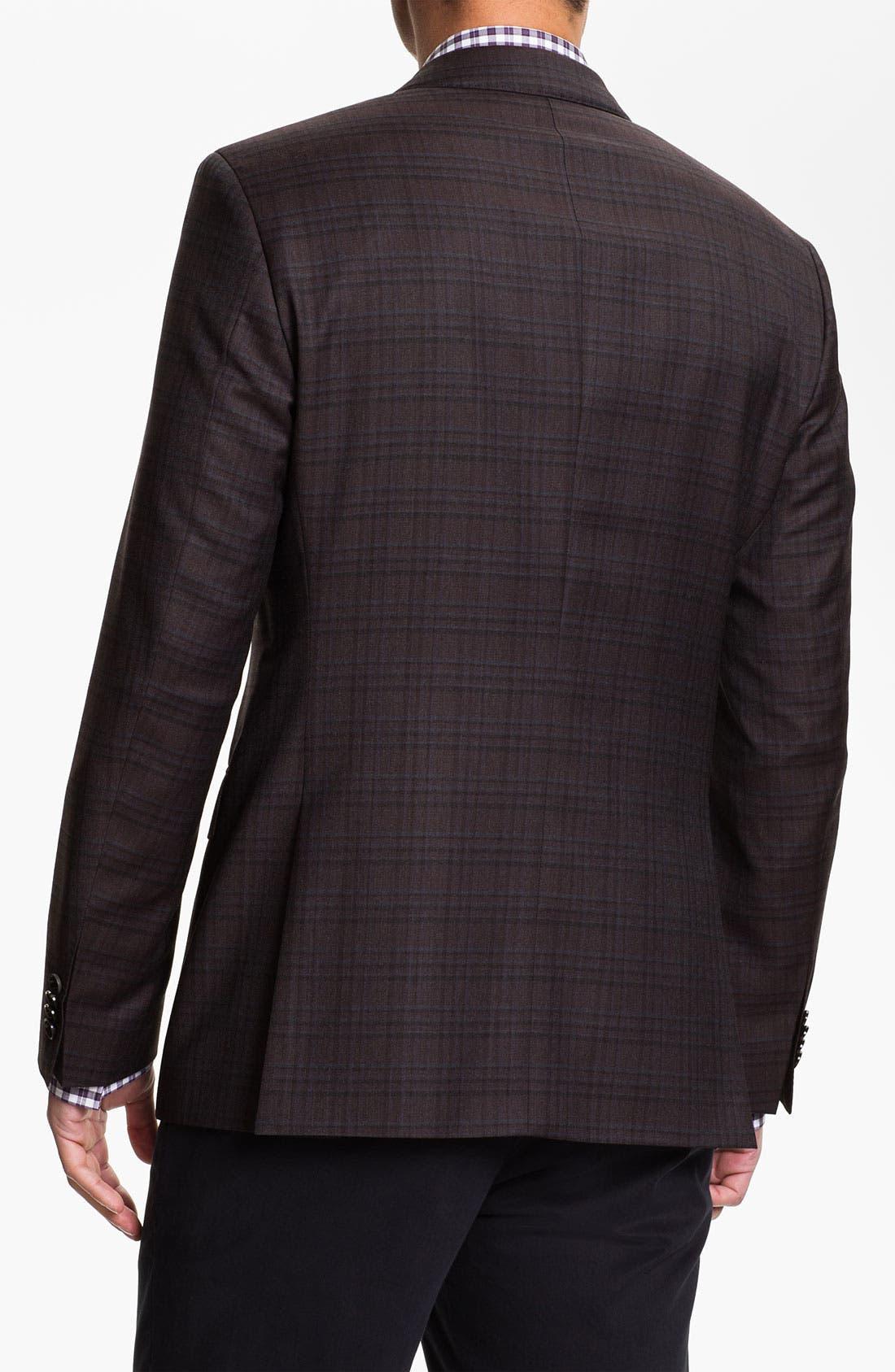 Alternate Image 2  - BOSS Black 'James' Trim Fit Plaid Sportcoat