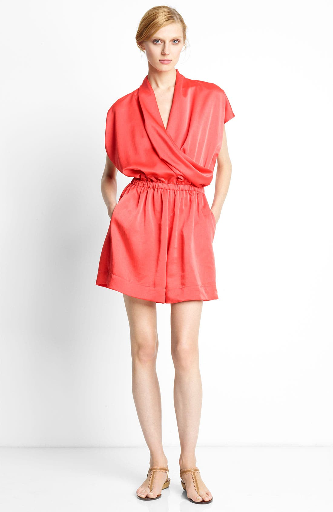 Alternate Image 1 Selected - Lanvin Short Sleeve Techno Romper