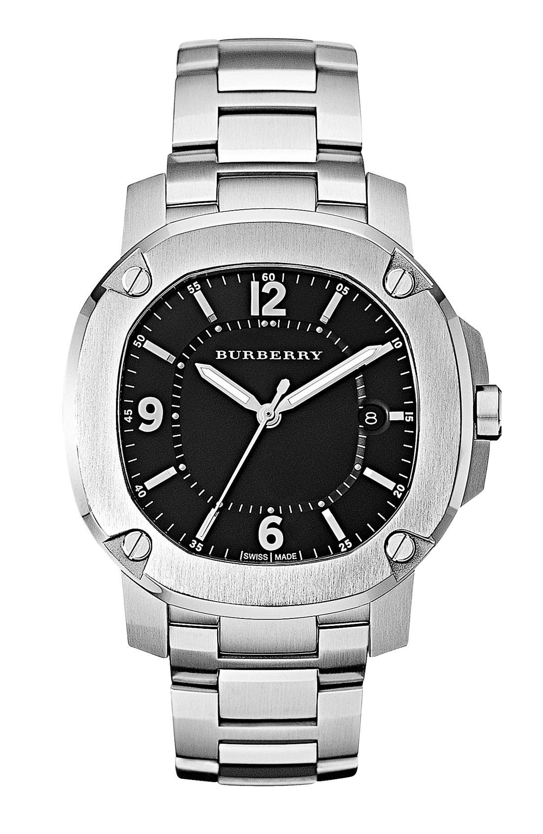 Main Image - Burberry The Britain Bracelet Watch, 38mm