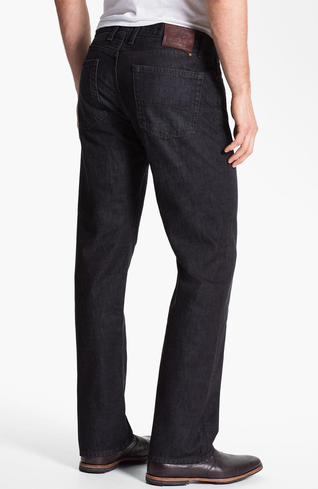 Alternate Image 2  - Lucky Brand Straight Leg Jeans (Dark Sumner)