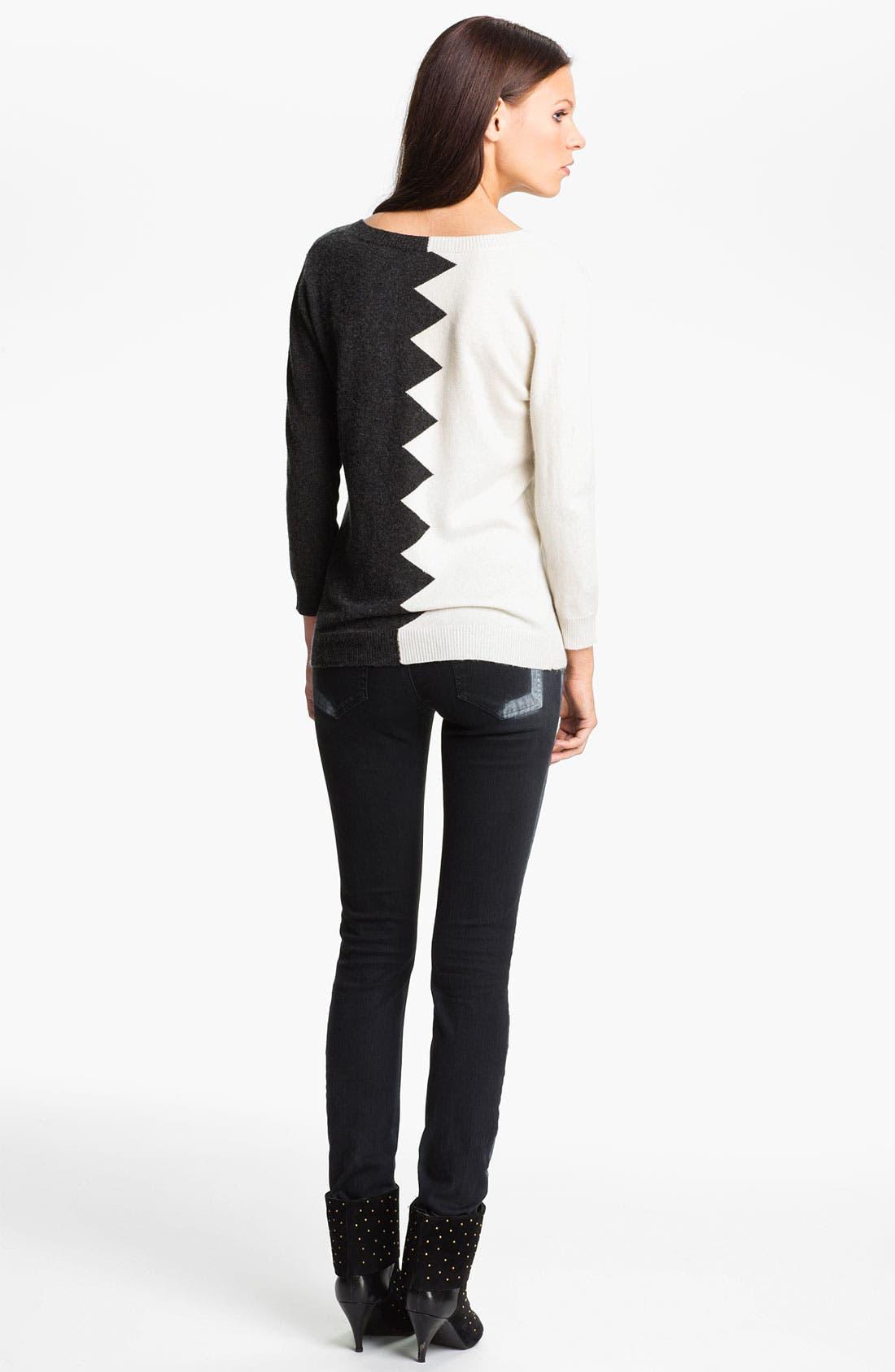 Alternate Image 2  - Kelly Wearstler 'Zigzag Slither' V-Neck Pullover