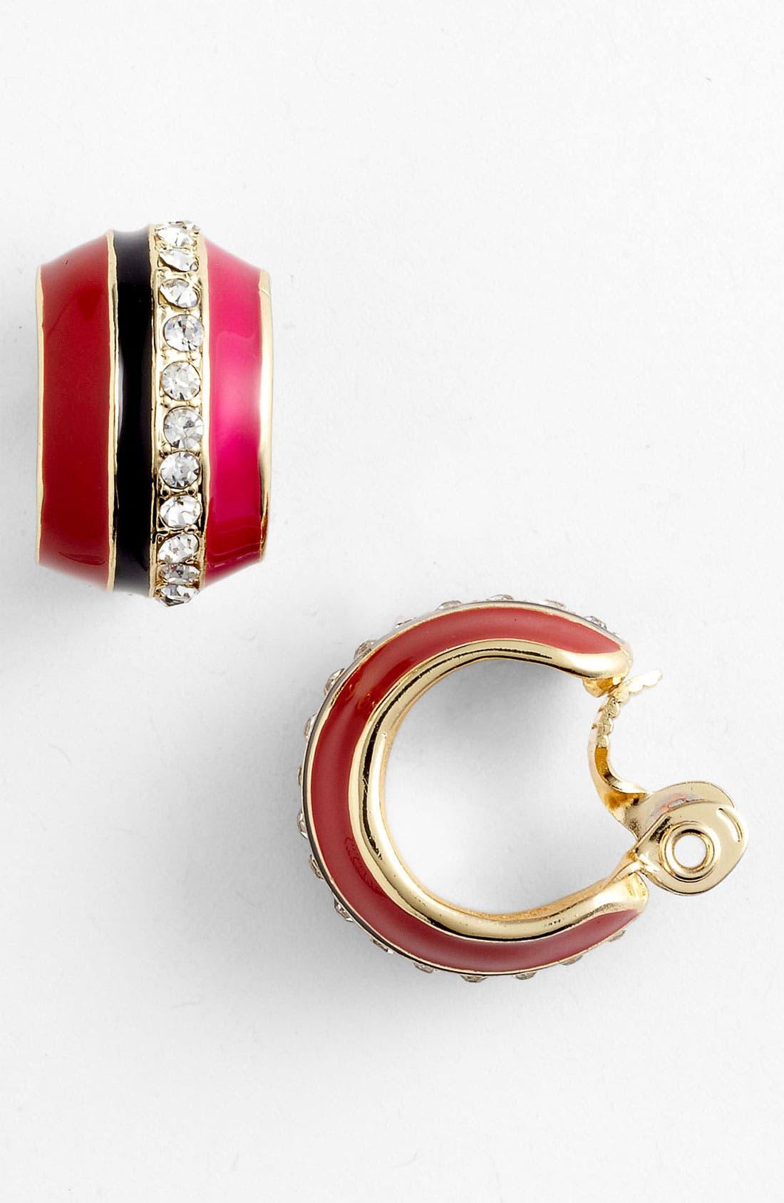 Alternate Image 1 Selected - Anne Klein Clip Hoop Earrings